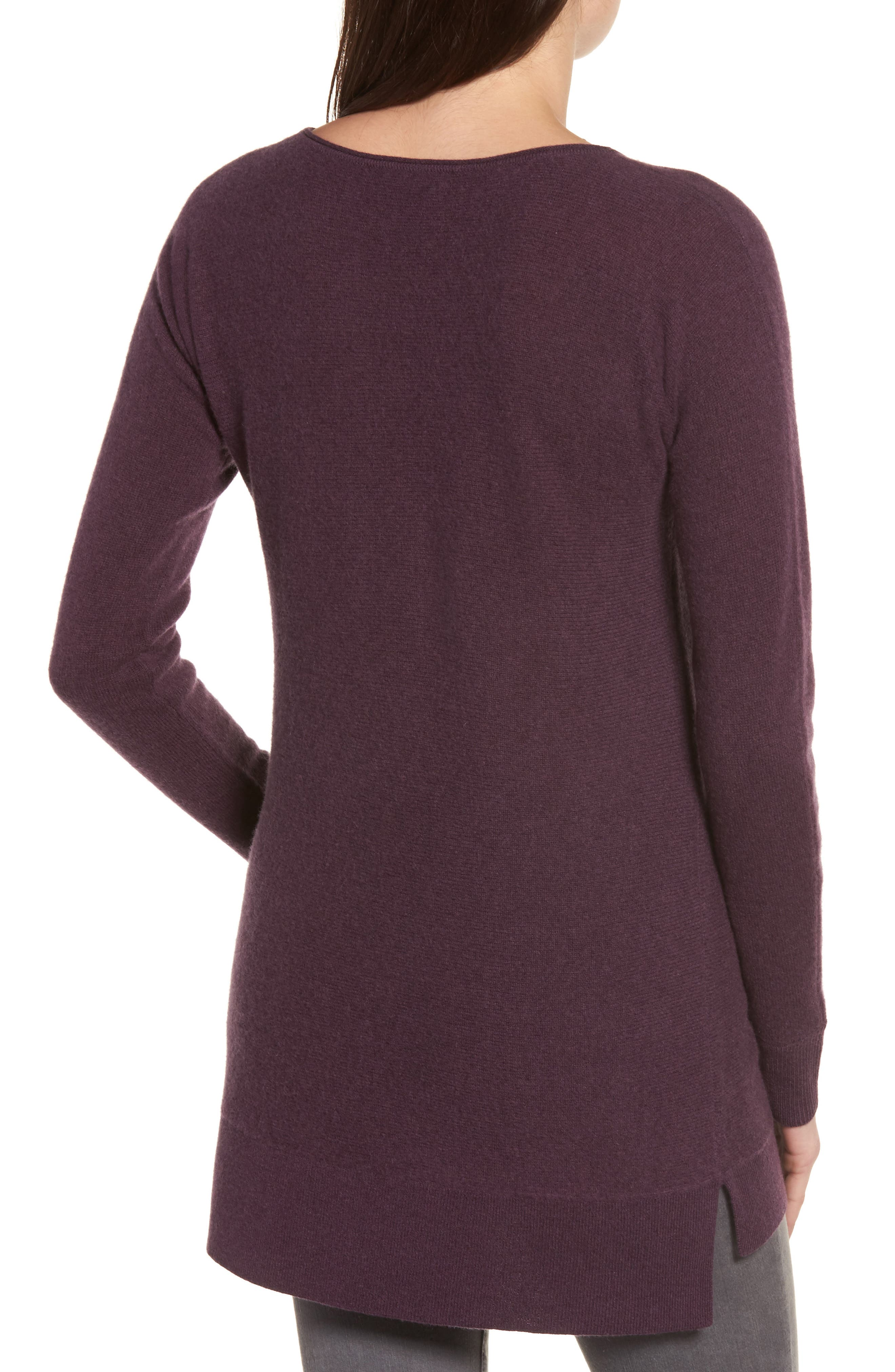 High/Low Wool & Cashmere Tunic Sweater,                             Alternate thumbnail 31, color,
