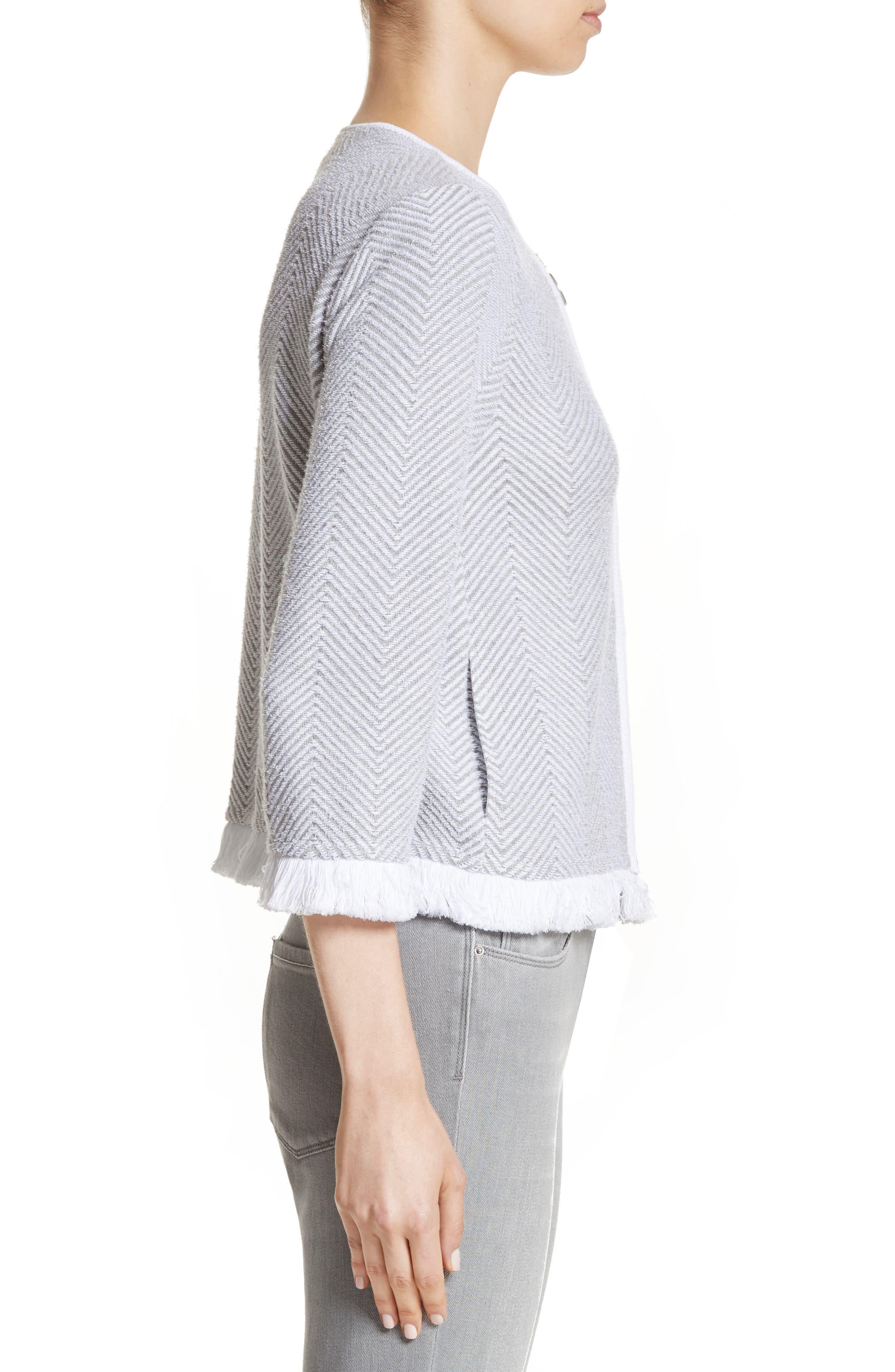 Chevron Knit Jacket,                             Alternate thumbnail 3, color,                             050
