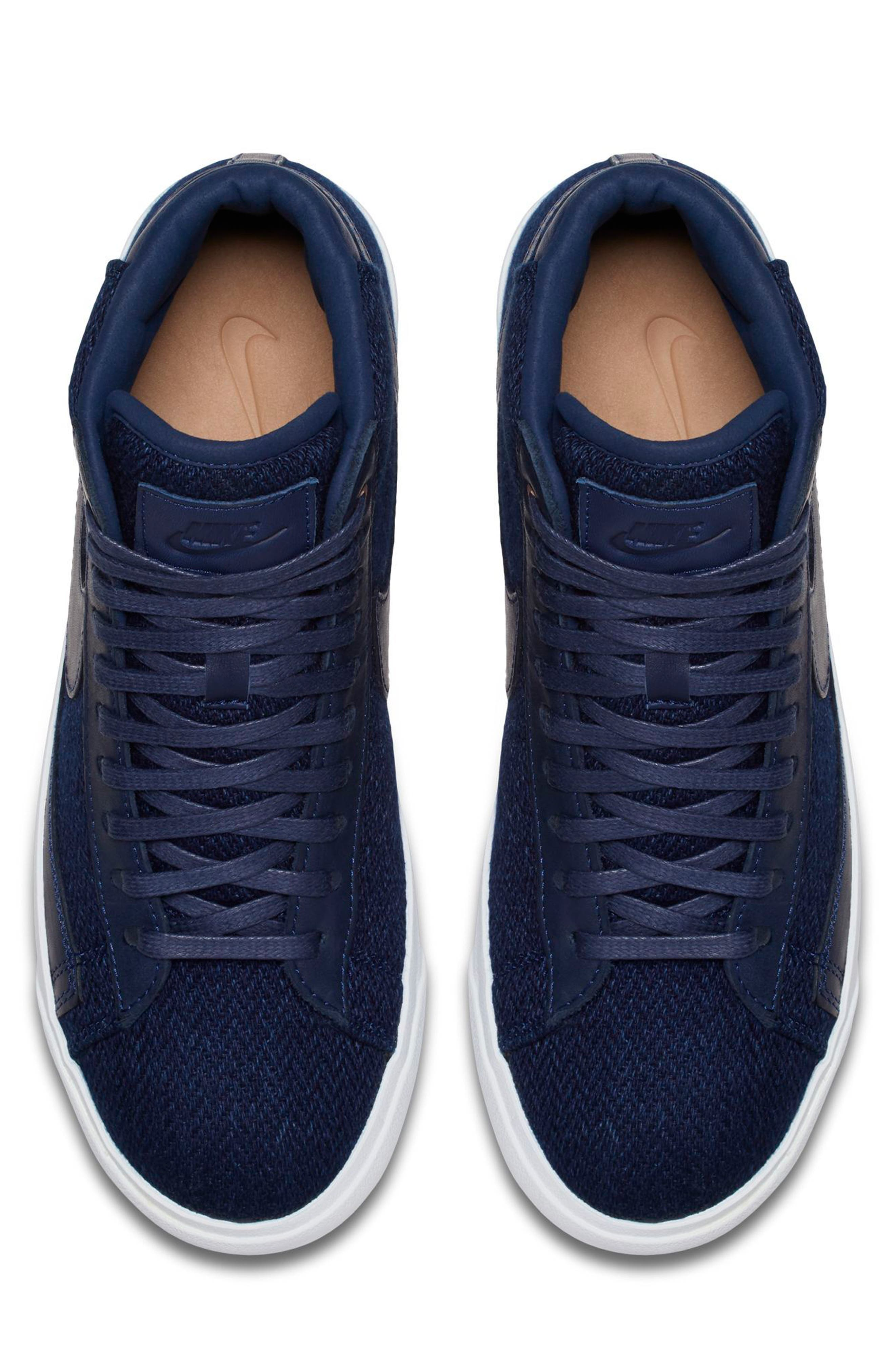 Blazer Mid Premium LX Sneaker,                             Alternate thumbnail 4, color,                             400