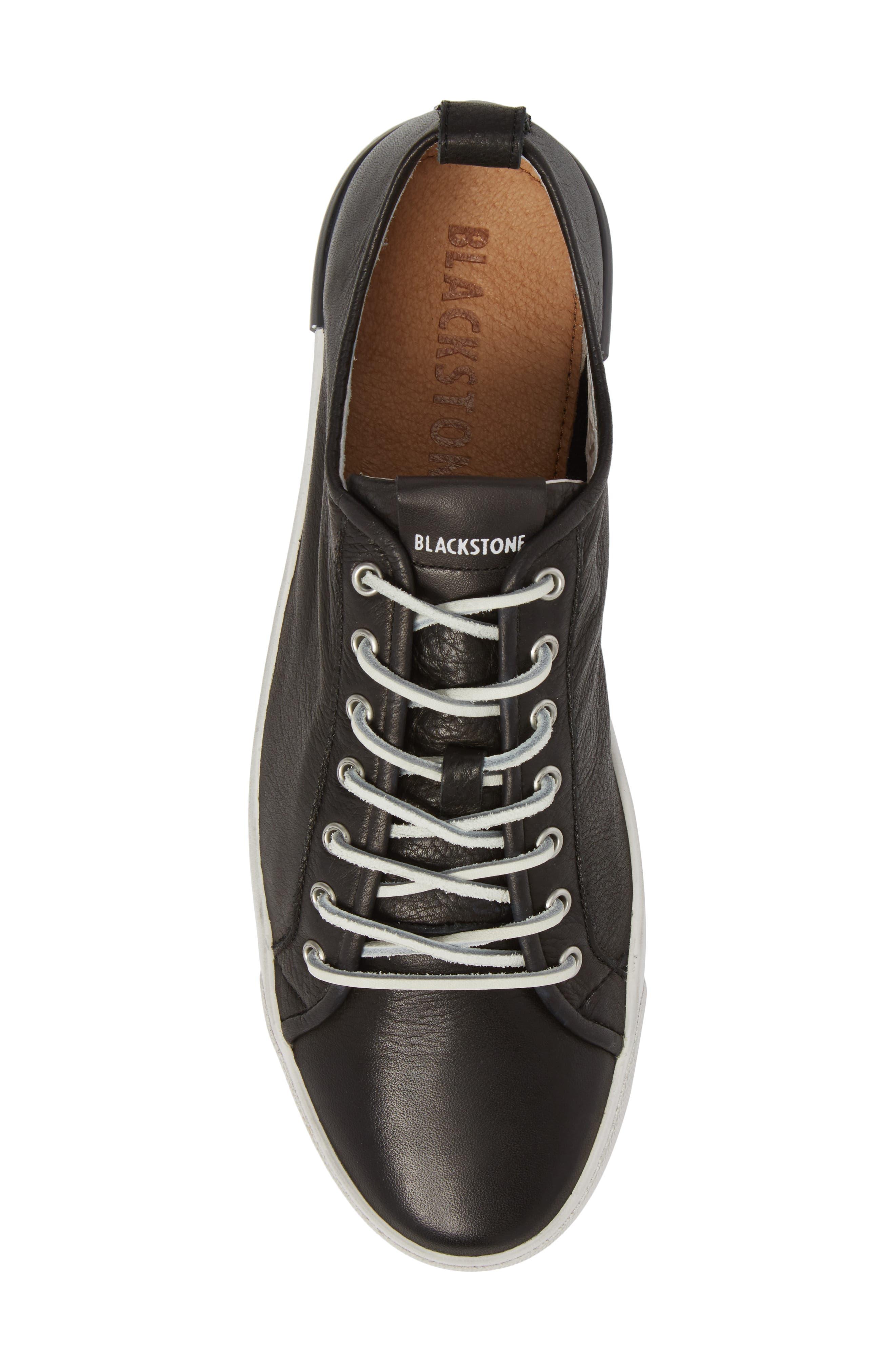 PM66 Low Top Sneaker,                             Alternate thumbnail 5, color,                             BLACK LEATHER