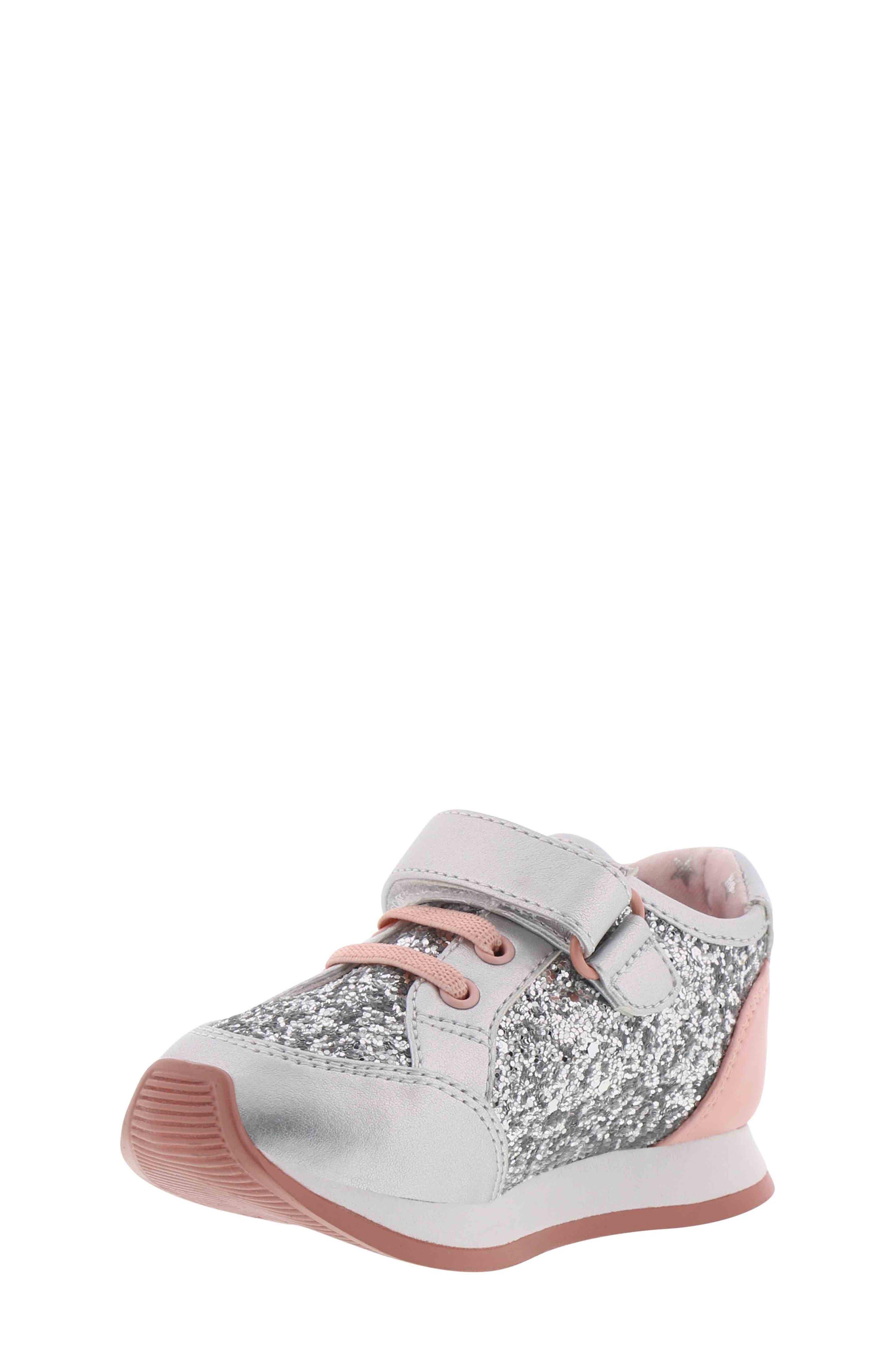 BØRN,                             Adyson Margyne Sparkle Sneaker,                             Alternate thumbnail 7, color,                             SILVER PINK