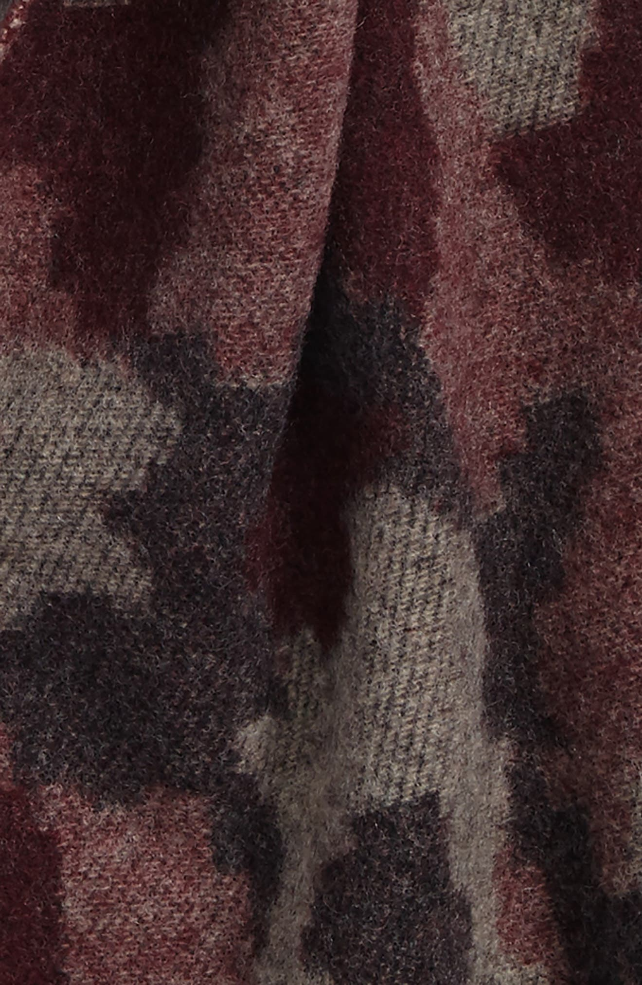 Jacquard Camo Wool & Cashmere Scarf,                             Alternate thumbnail 6, color,