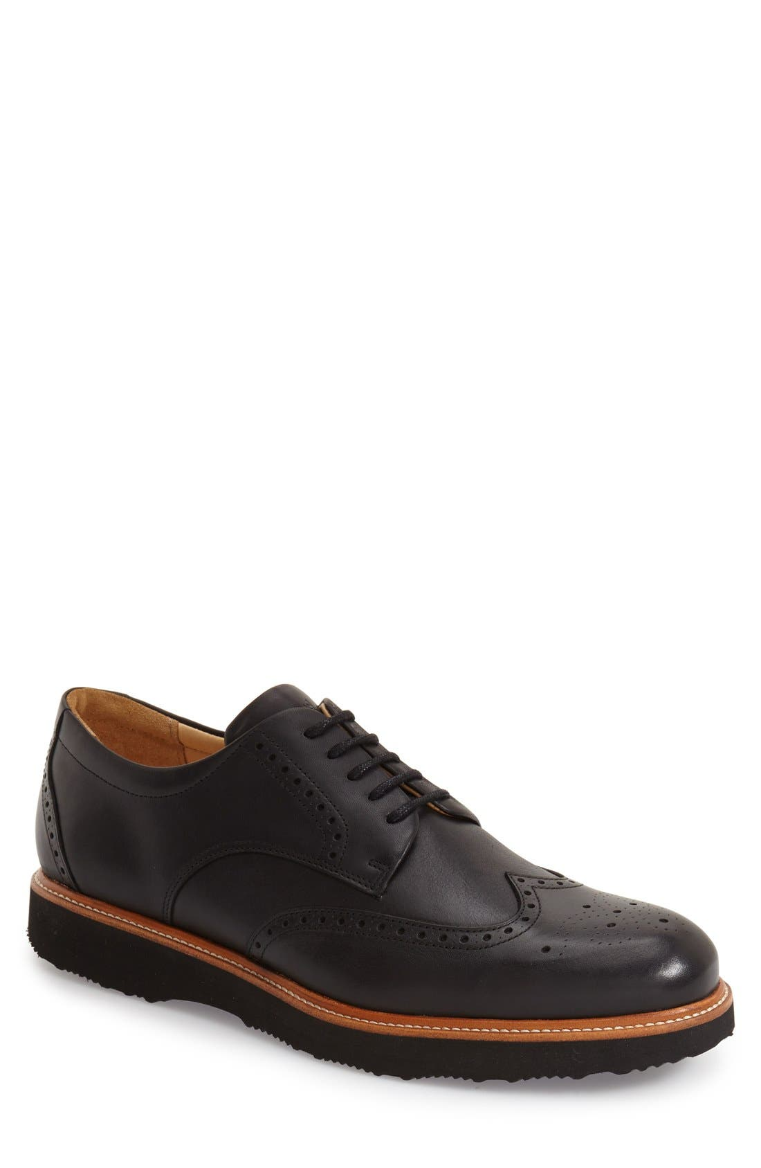 'Tipping Point' Wingtip Oxford,                             Main thumbnail 1, color,                             BLACK