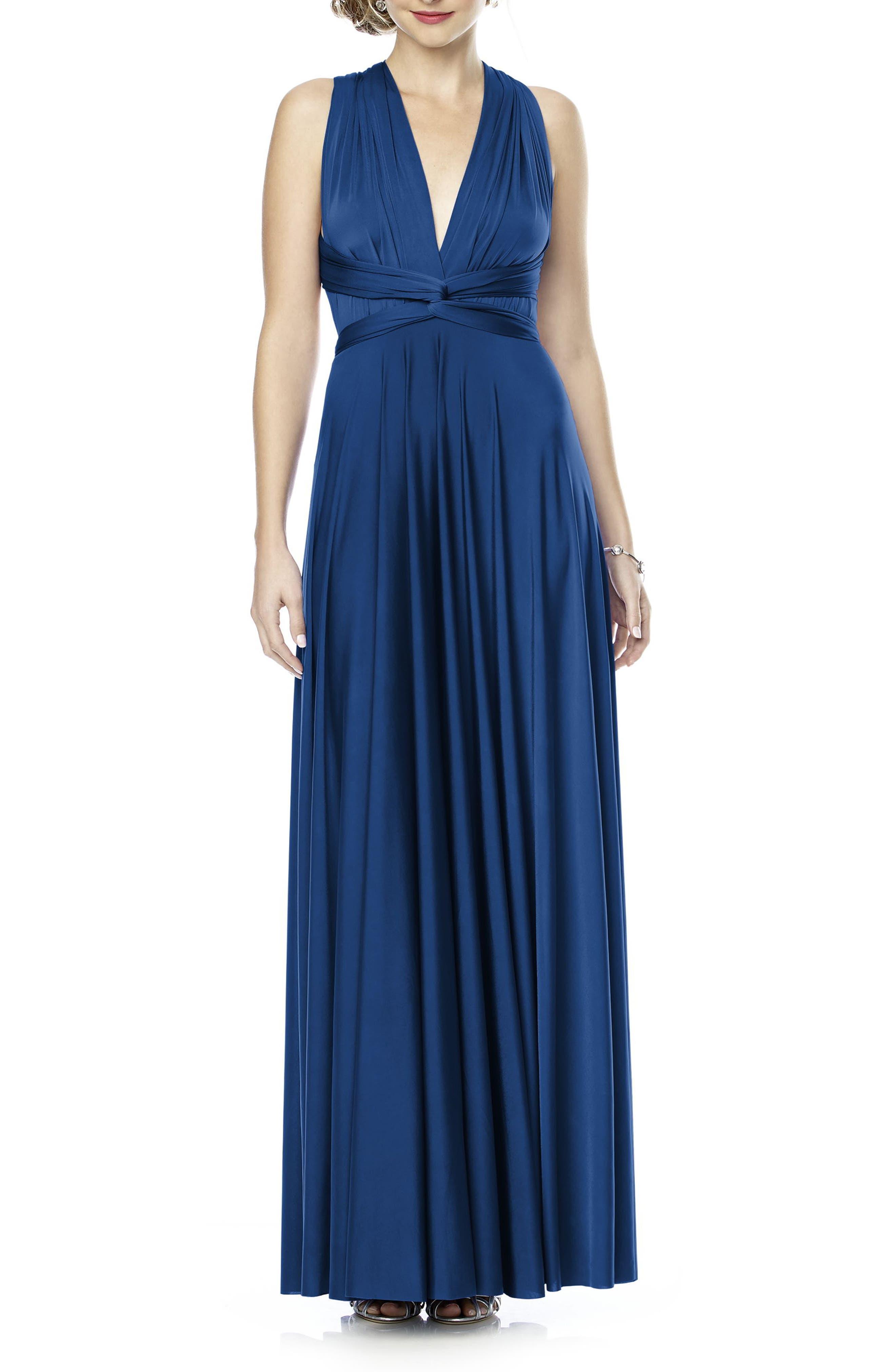 Convertible Wrap Tie Surplice Jersey Gown,                             Alternate thumbnail 34, color,