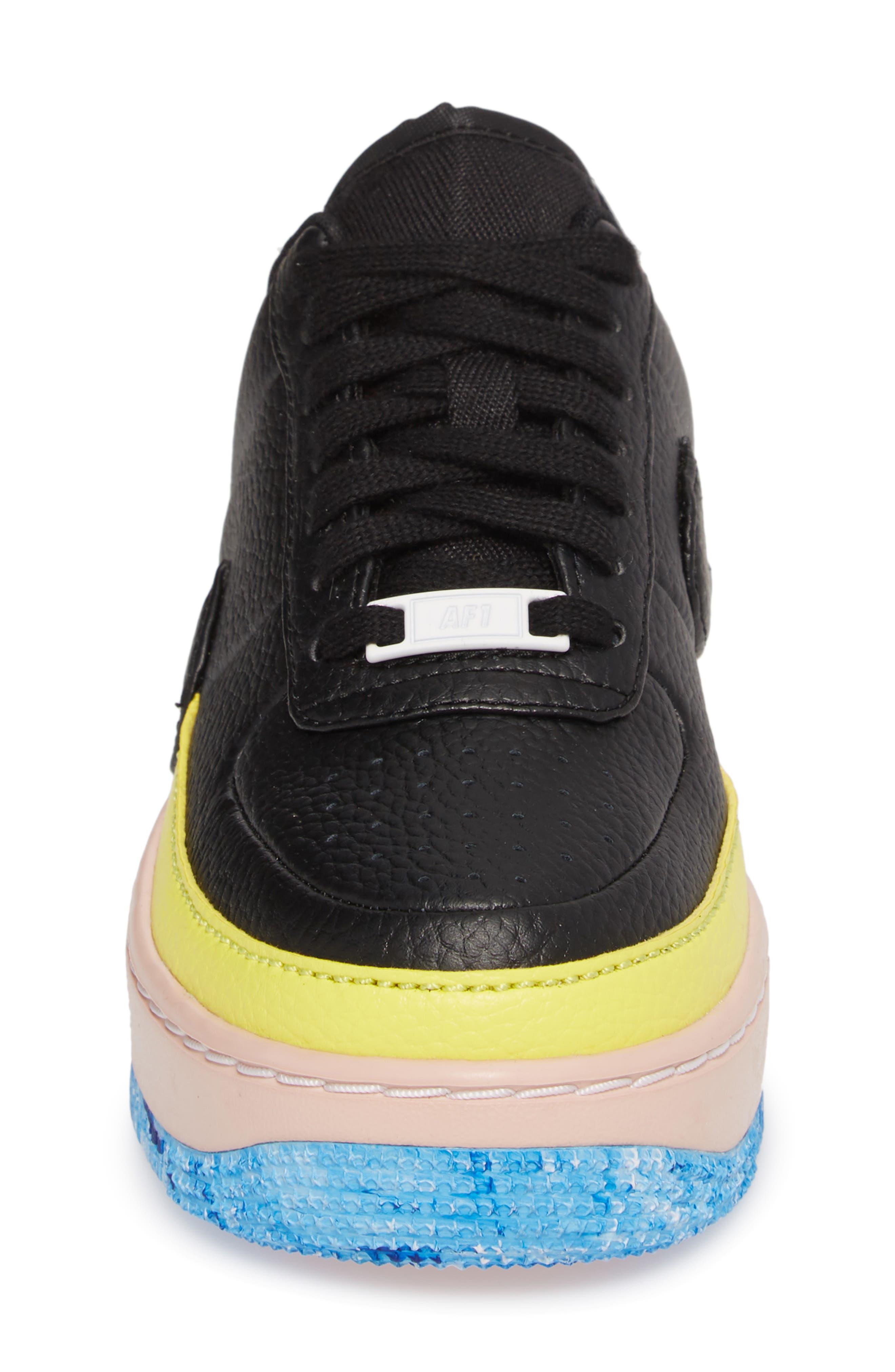 Air Force 1 Jester XX Sneaker,                             Alternate thumbnail 4, color,                             BLACK/ SONIC YELLOW/ ORANGE