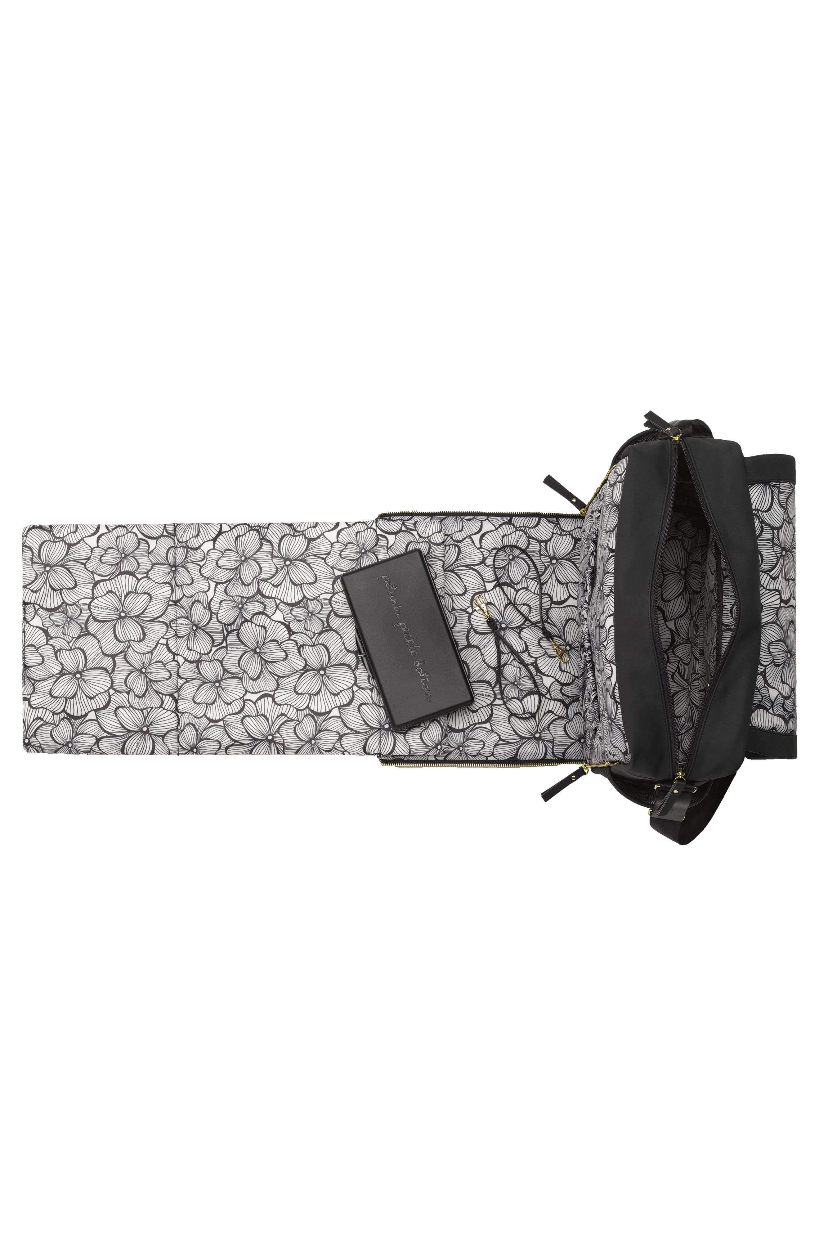 Boxy Backpack Diaper Bag,                             Alternate thumbnail 2, color,                             BLACK MATTE LEATHERETTE