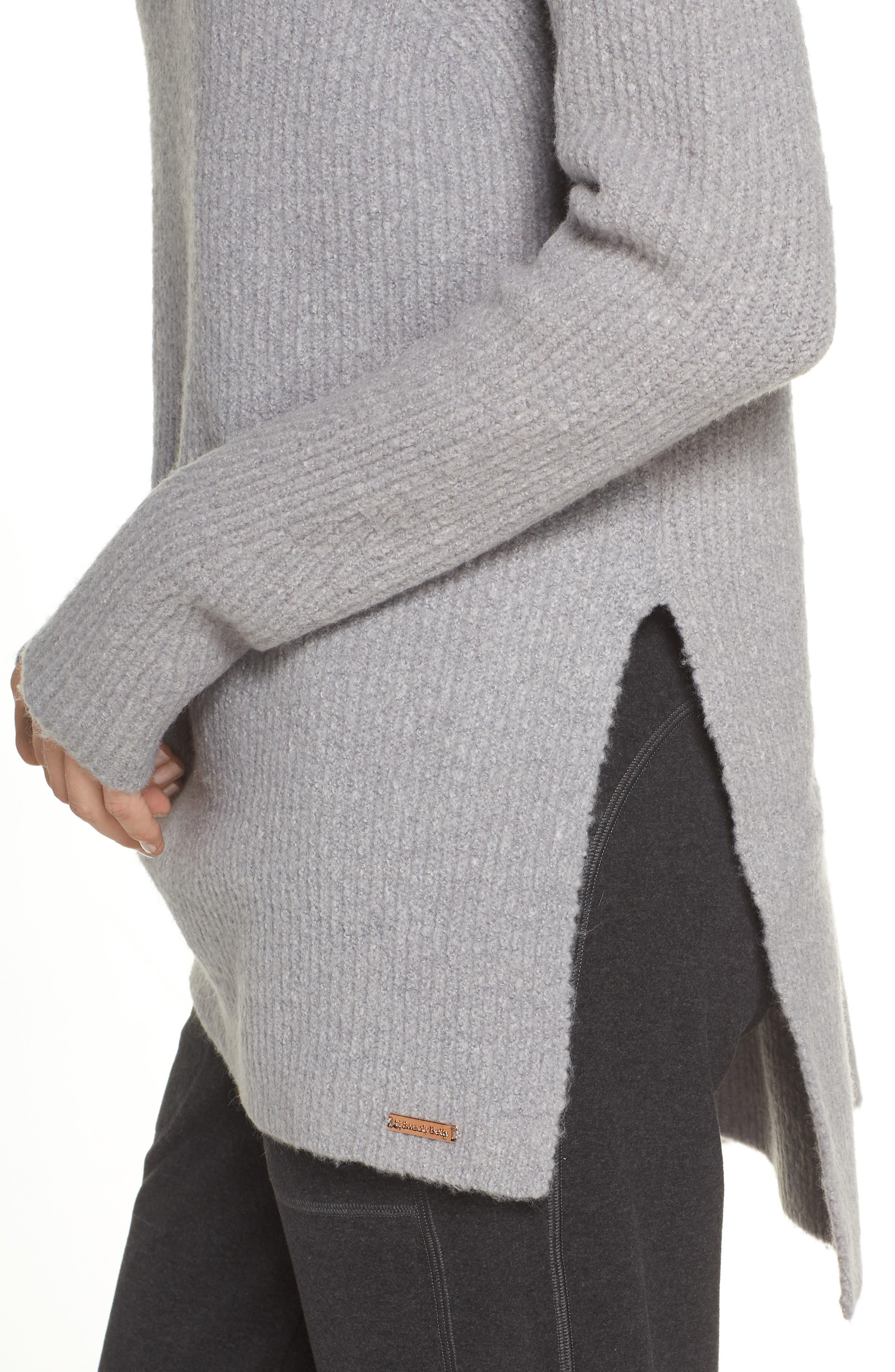 Shakti Oversize Sweater,                             Alternate thumbnail 4, color,                             SILVER GREY MARL