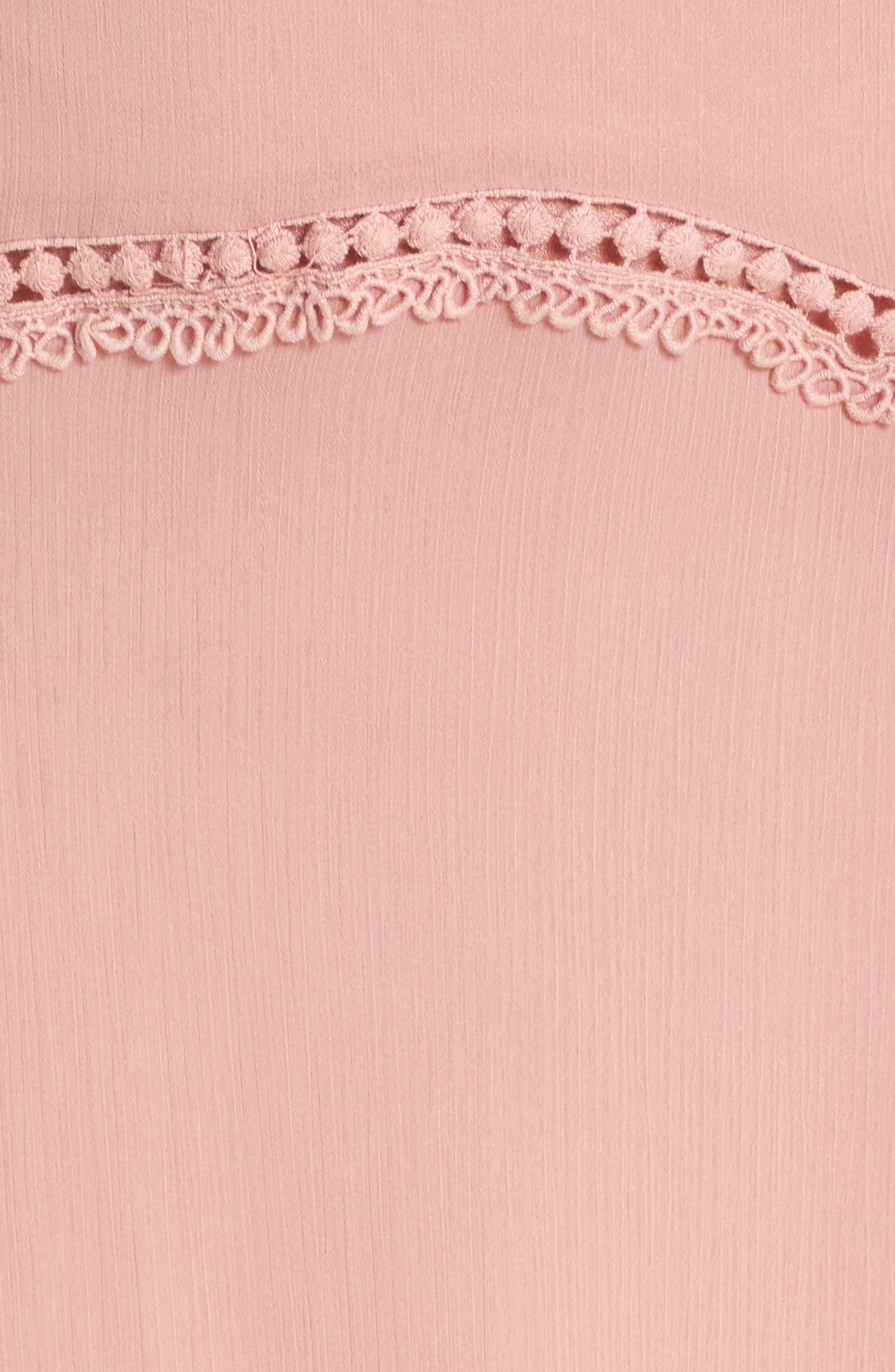 Picot Trim Maxi Dress,                             Alternate thumbnail 6, color,                             650
