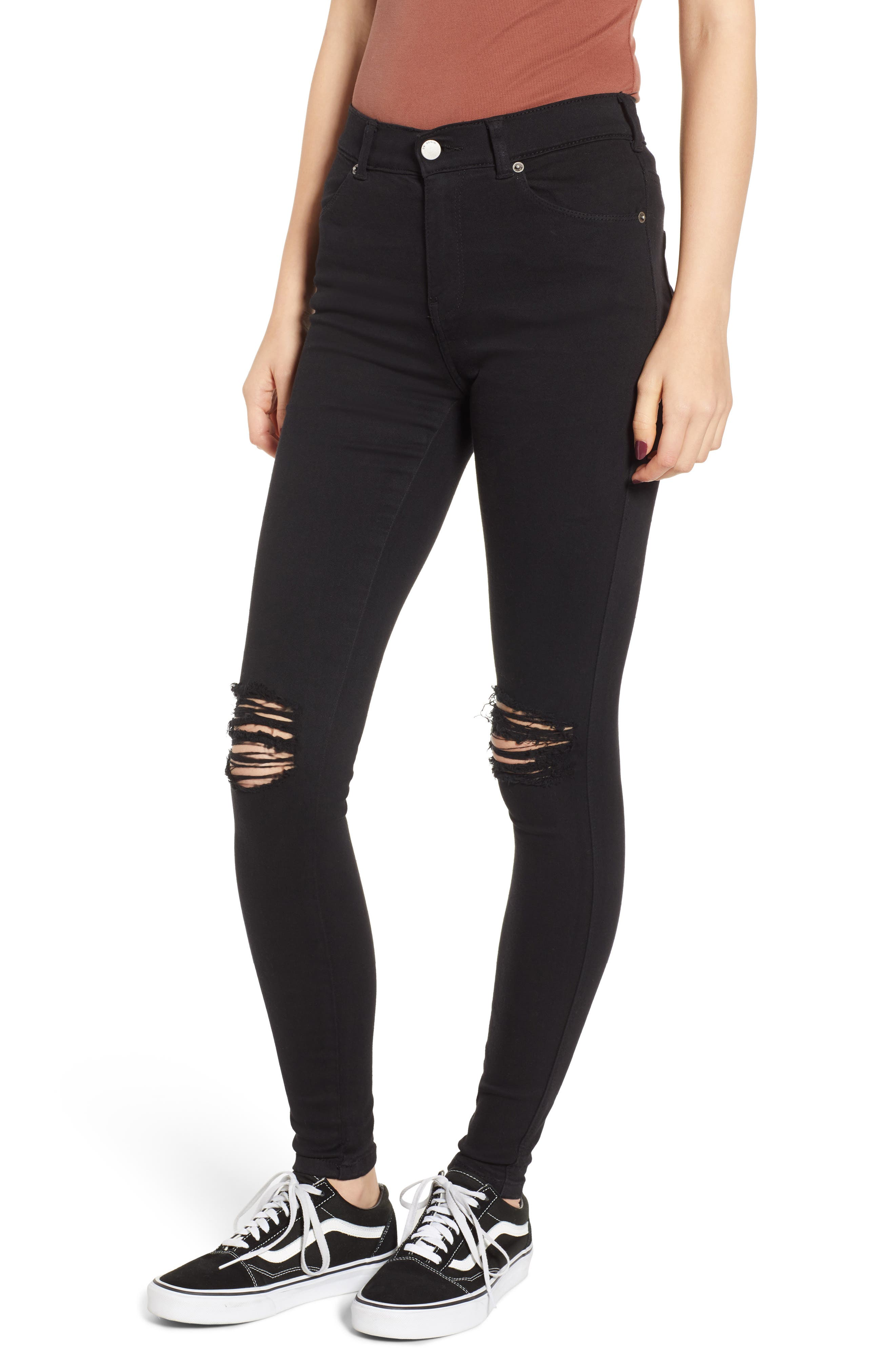 Lexy Ripped Skinny Jeans,                             Main thumbnail 1, color,                             001