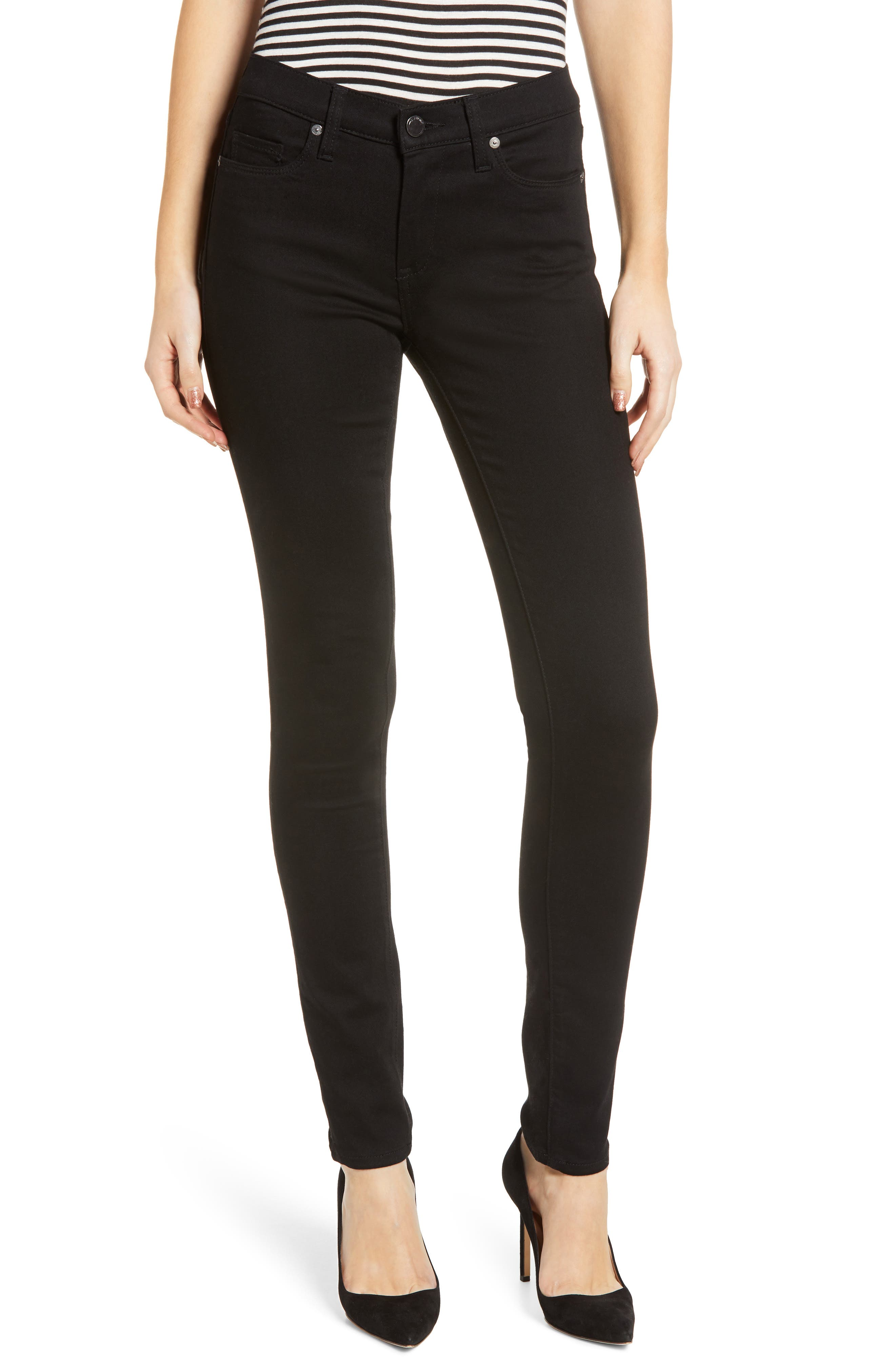 The Great Jones High Waist Skinny Jeans, Main, color, GOTHAM
