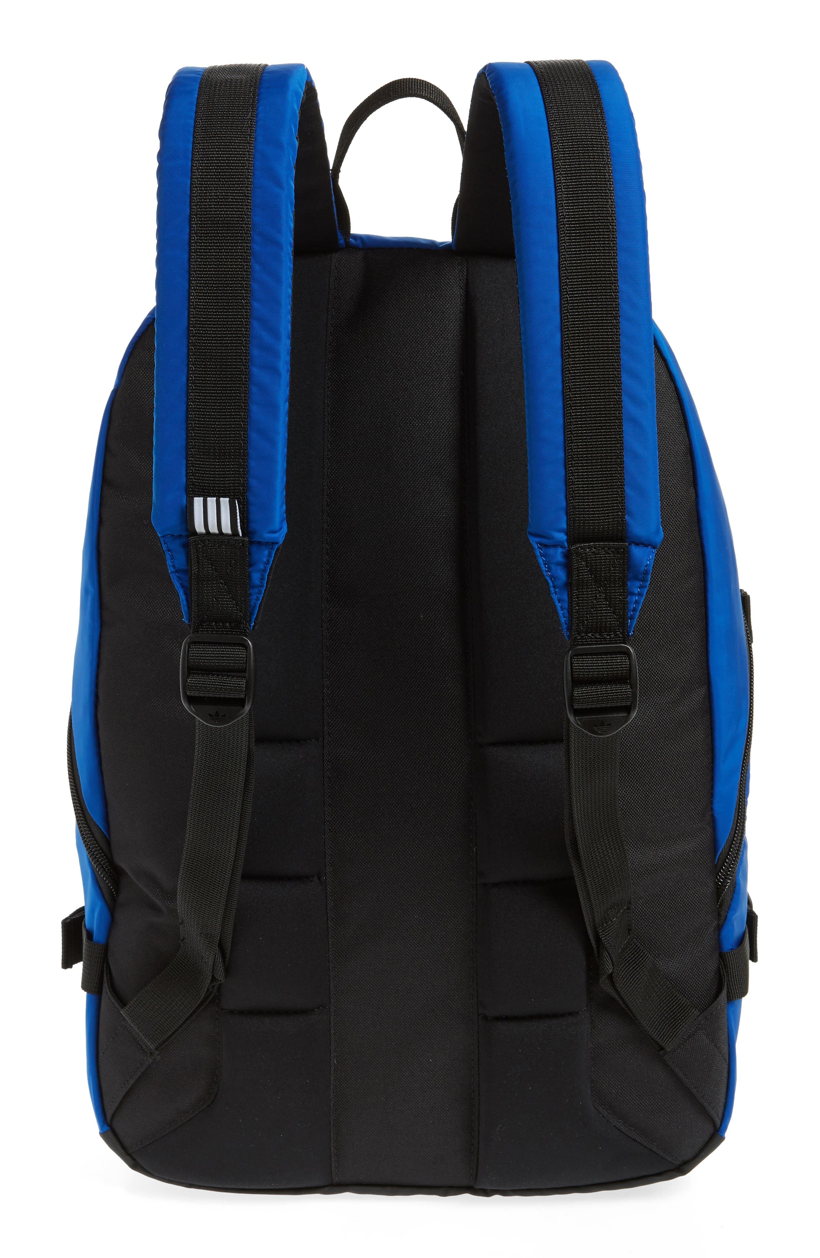 adidas Original EQT Blocked Backpack,                             Alternate thumbnail 3, color,                             COLLEGIATE BLUE/ BLACK/ WHITE