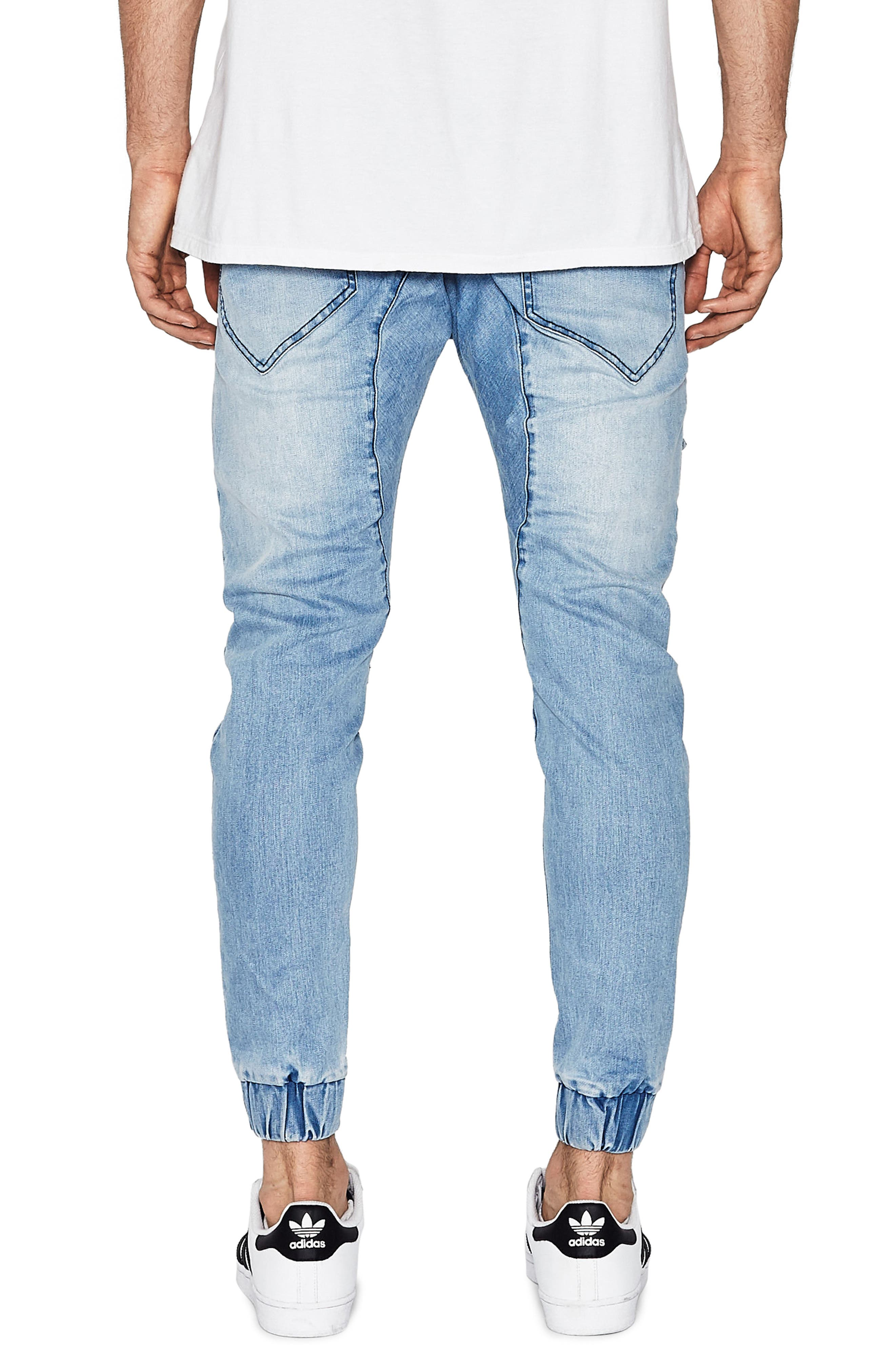 Flight Skinny Denim Jogger Pants,                             Alternate thumbnail 14, color,