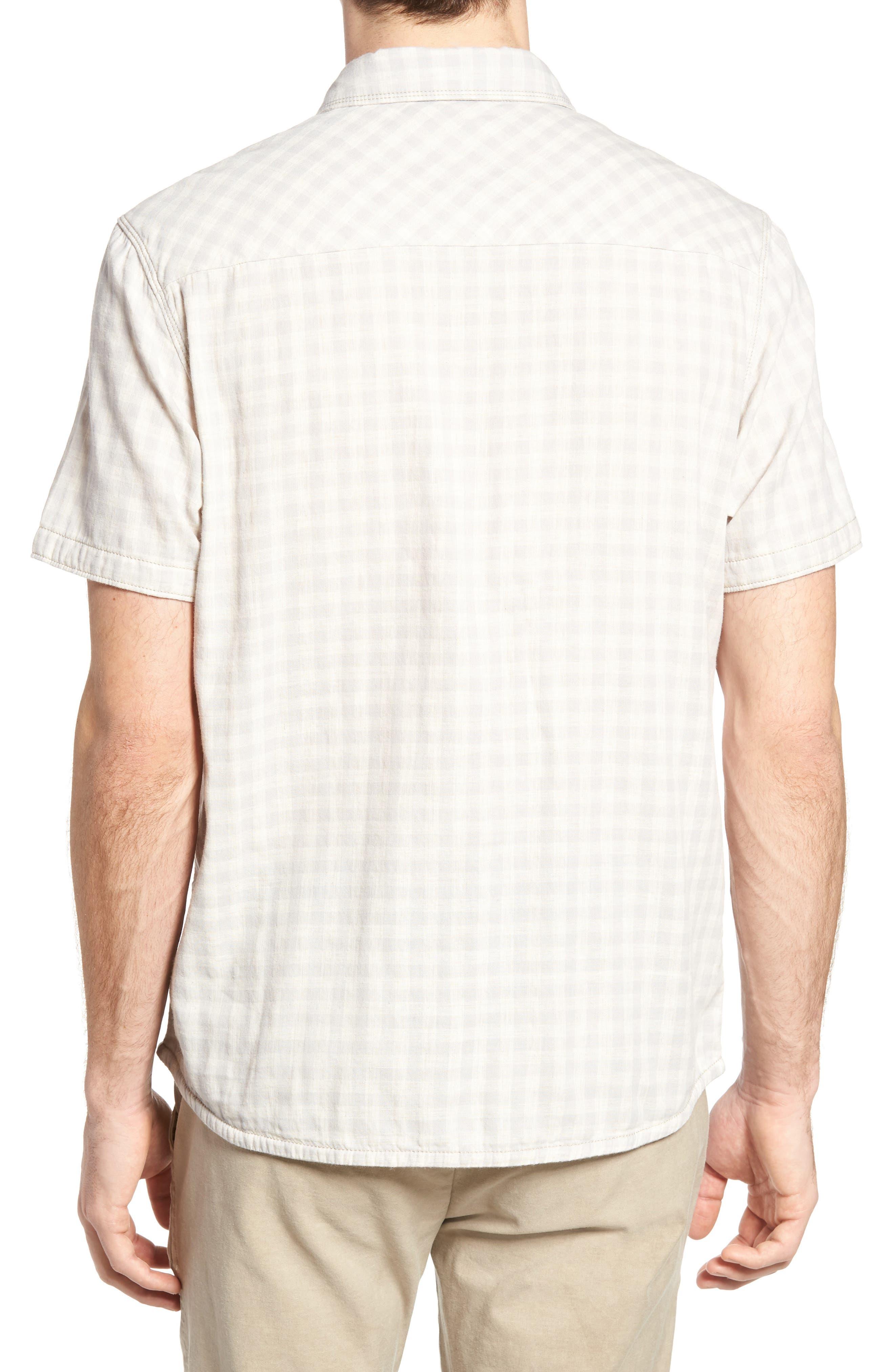 Graham Reversible Plaid Sport Shirt,                             Alternate thumbnail 3, color,                             271
