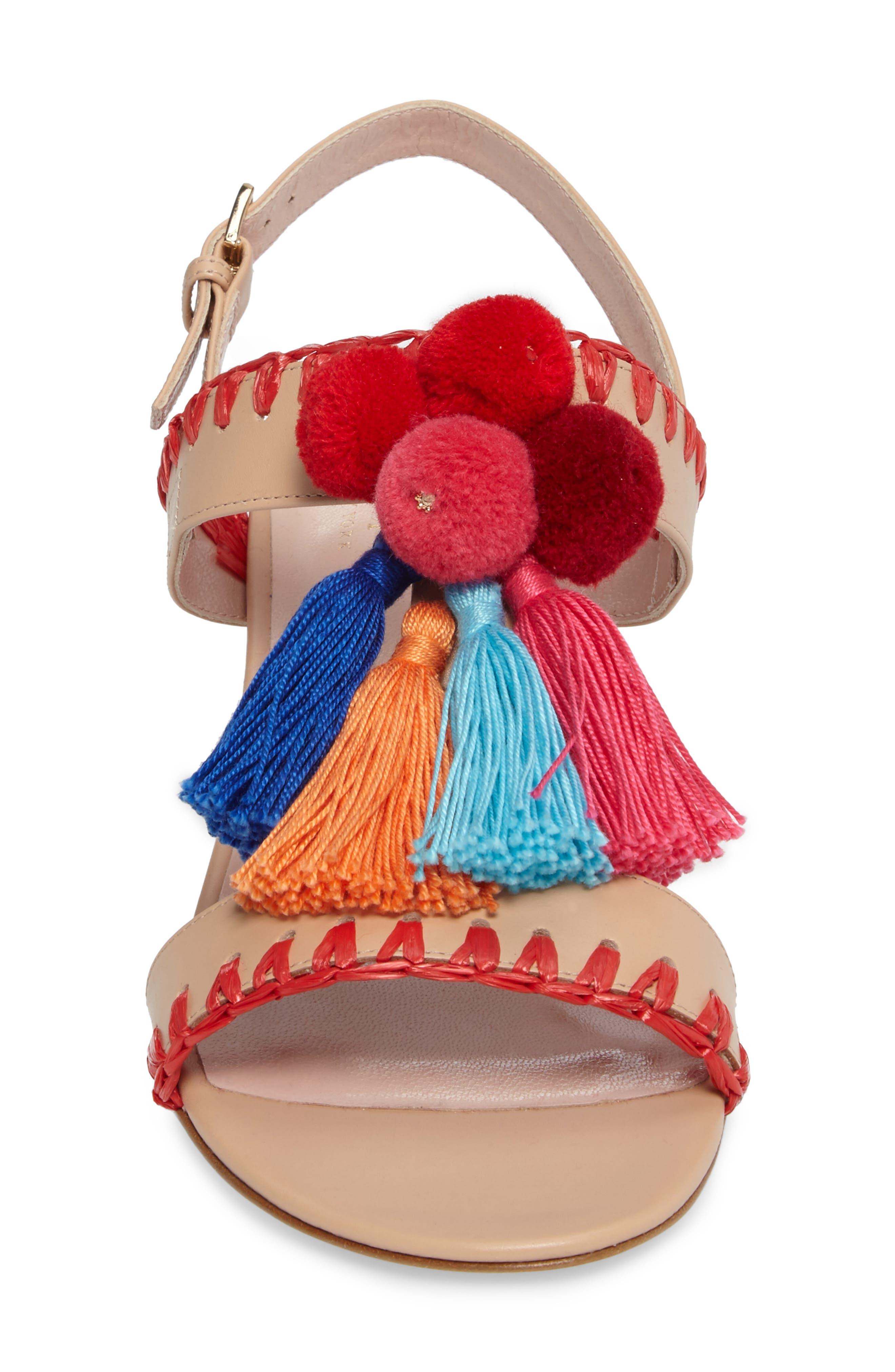 mcdougal pom tassel sandal,                             Alternate thumbnail 4, color,                             278