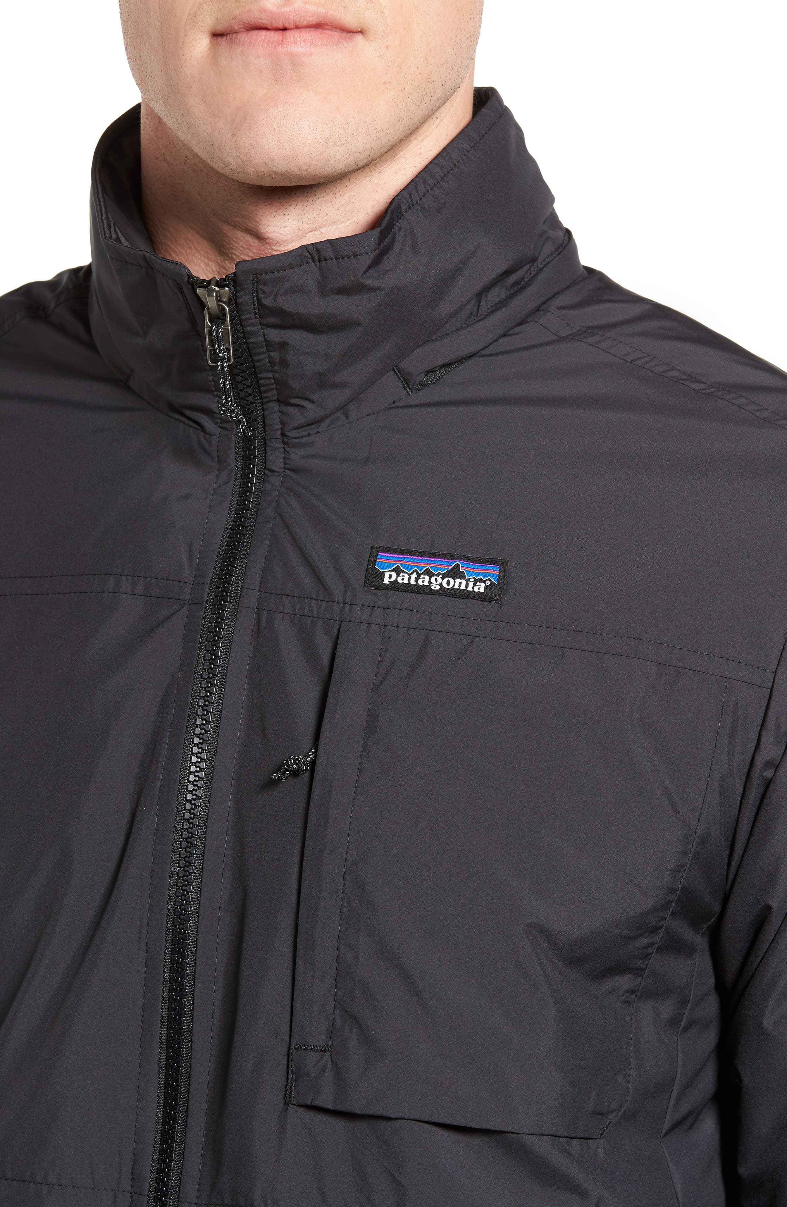 Crankset Regular Fit Jacket,                             Alternate thumbnail 4, color,                             BLACK