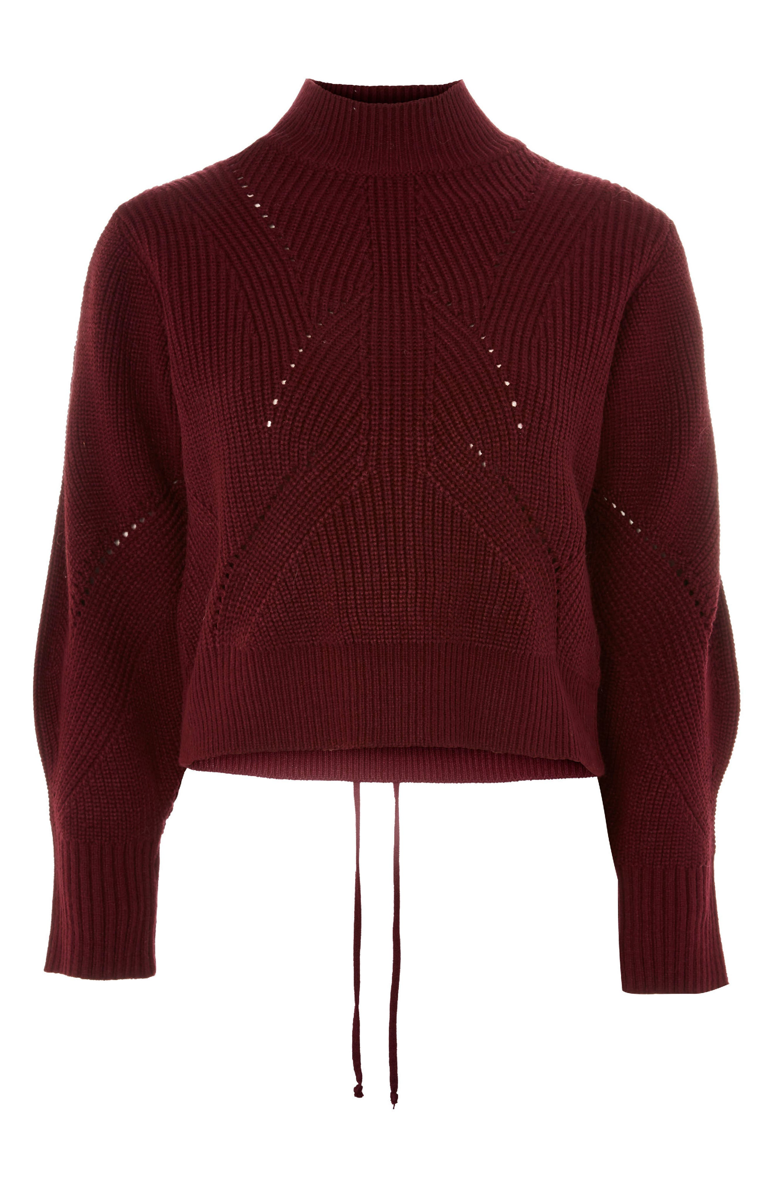 Lace-Up Back Sweater,                             Alternate thumbnail 3, color,                             640