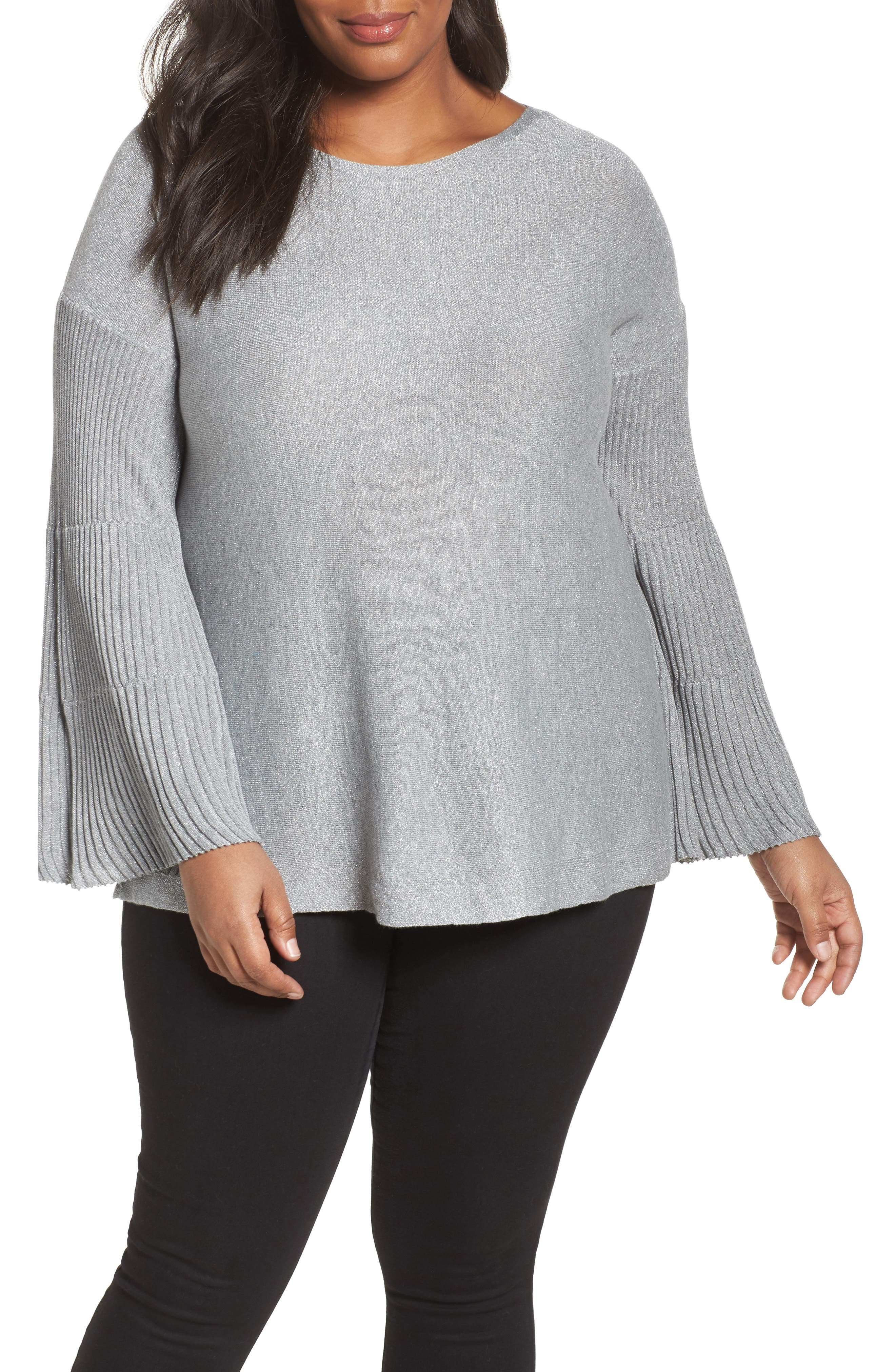 Sparkly Bell Sleeve Sweater,                             Main thumbnail 1, color,                             028