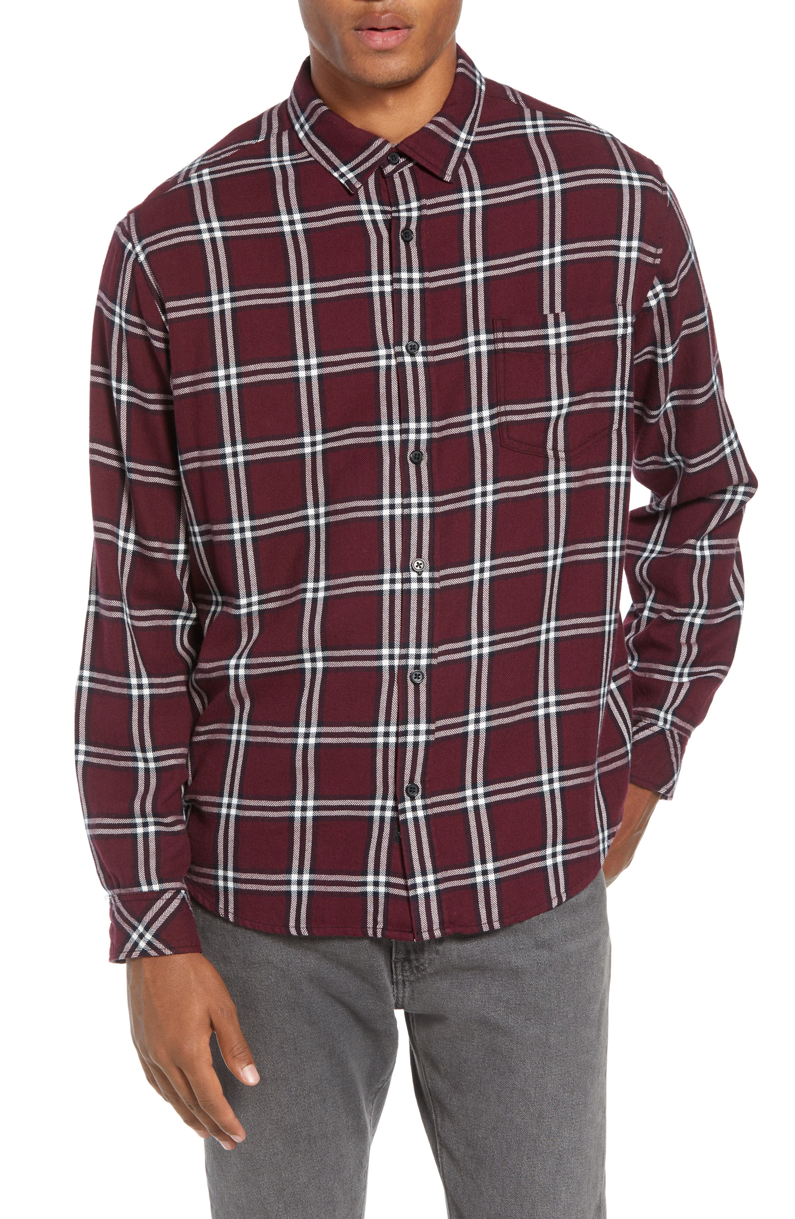 Lennox Regular Fit Plaid Sport Shirt,                             Alternate thumbnail 2, color,                             001