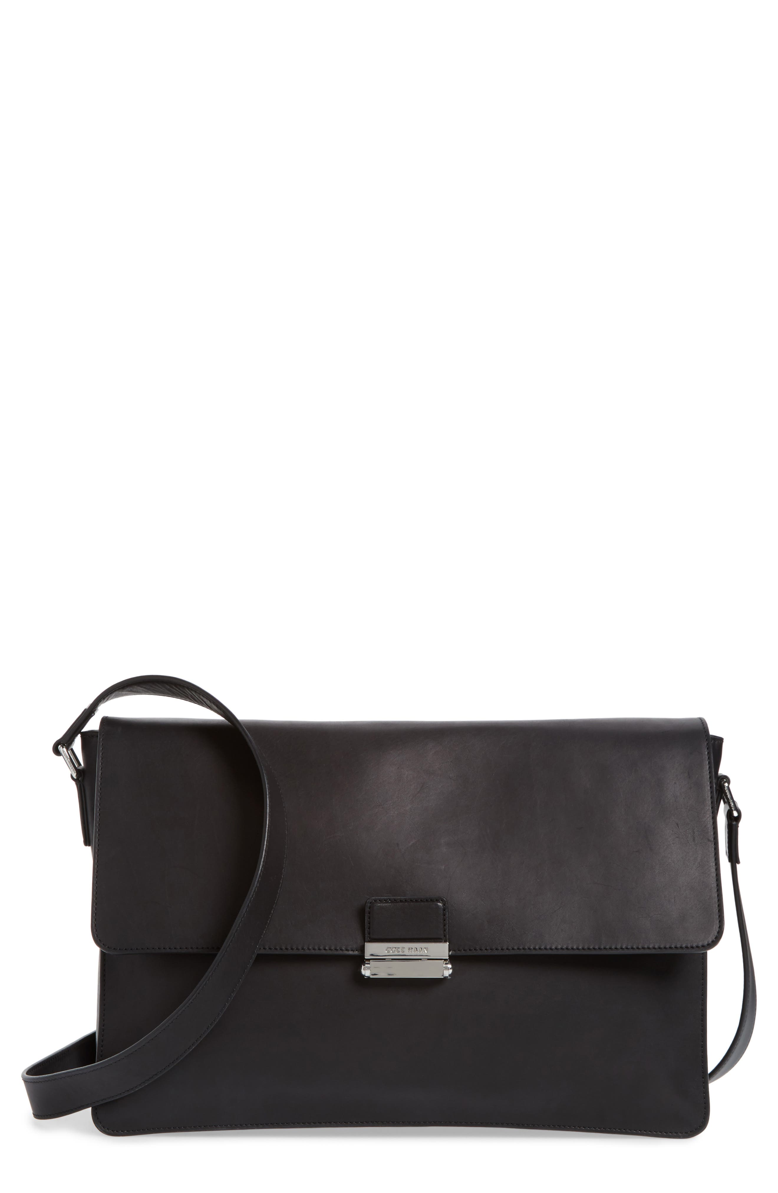 Brayton Leather Messenger Bag,                             Main thumbnail 1, color,