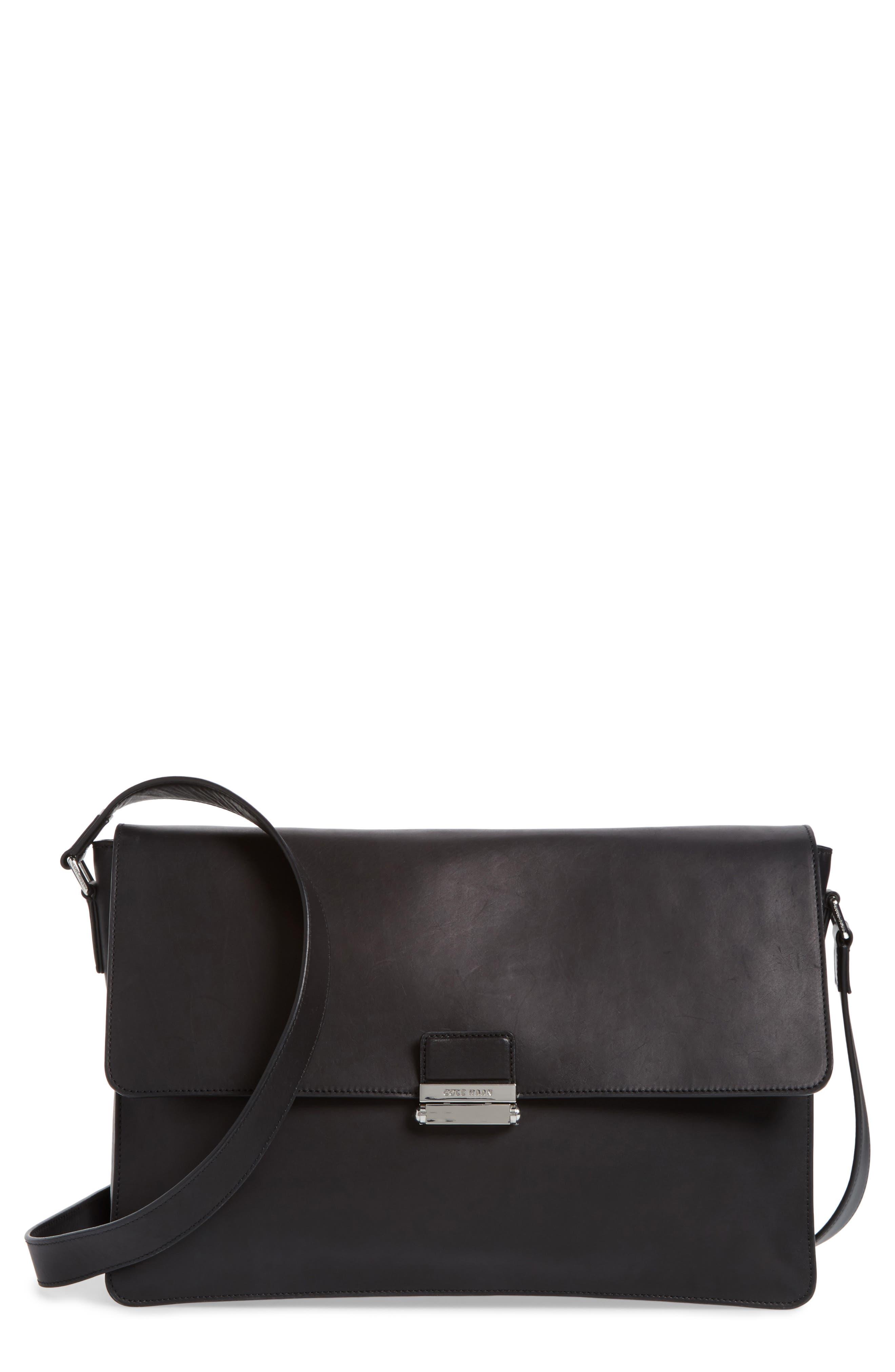 Brayton Leather Messenger Bag,                         Main,                         color,
