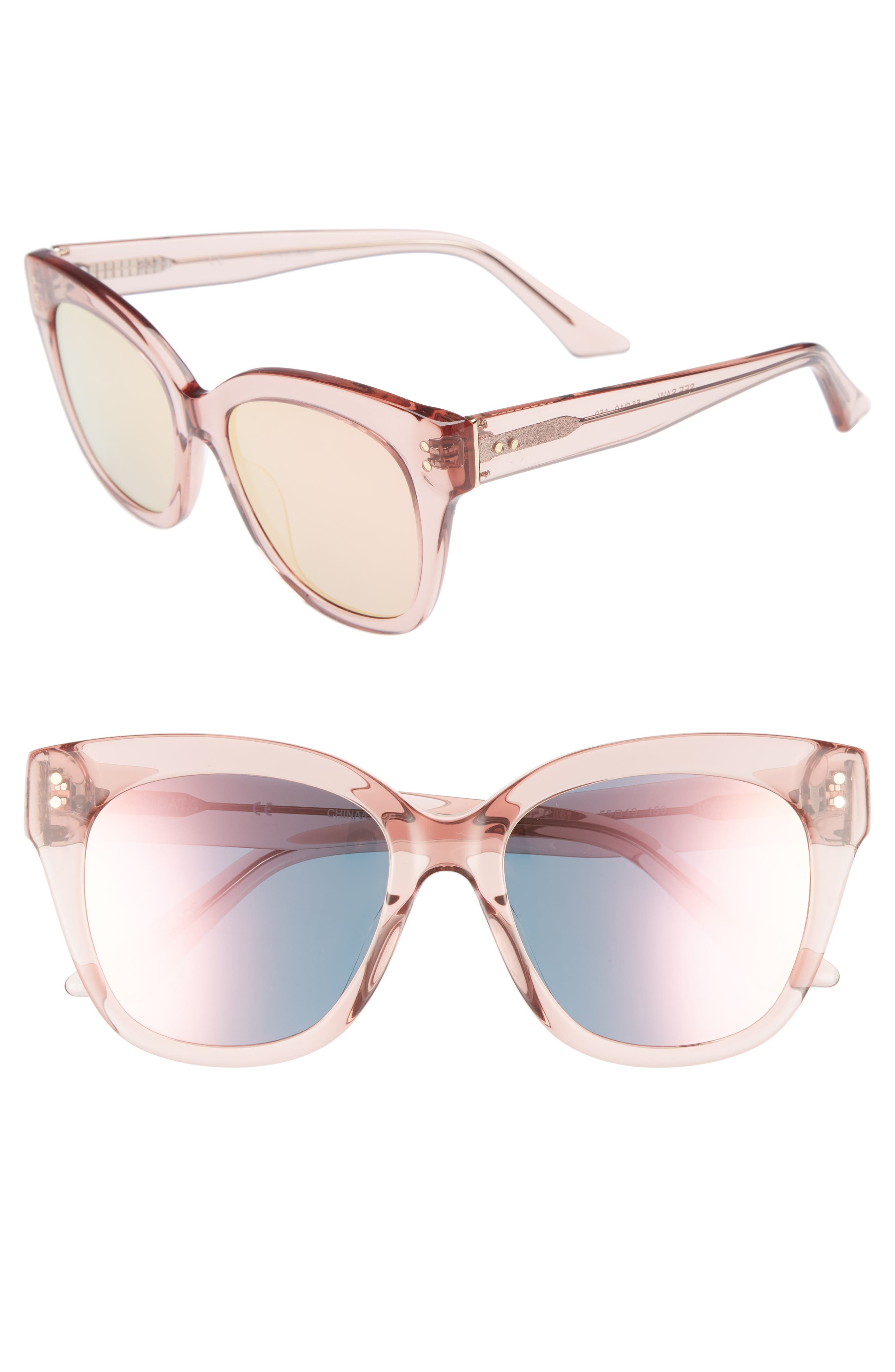 See Saw 55mm Cat Eye Sunglasses,                             Main thumbnail 1, color,                             650