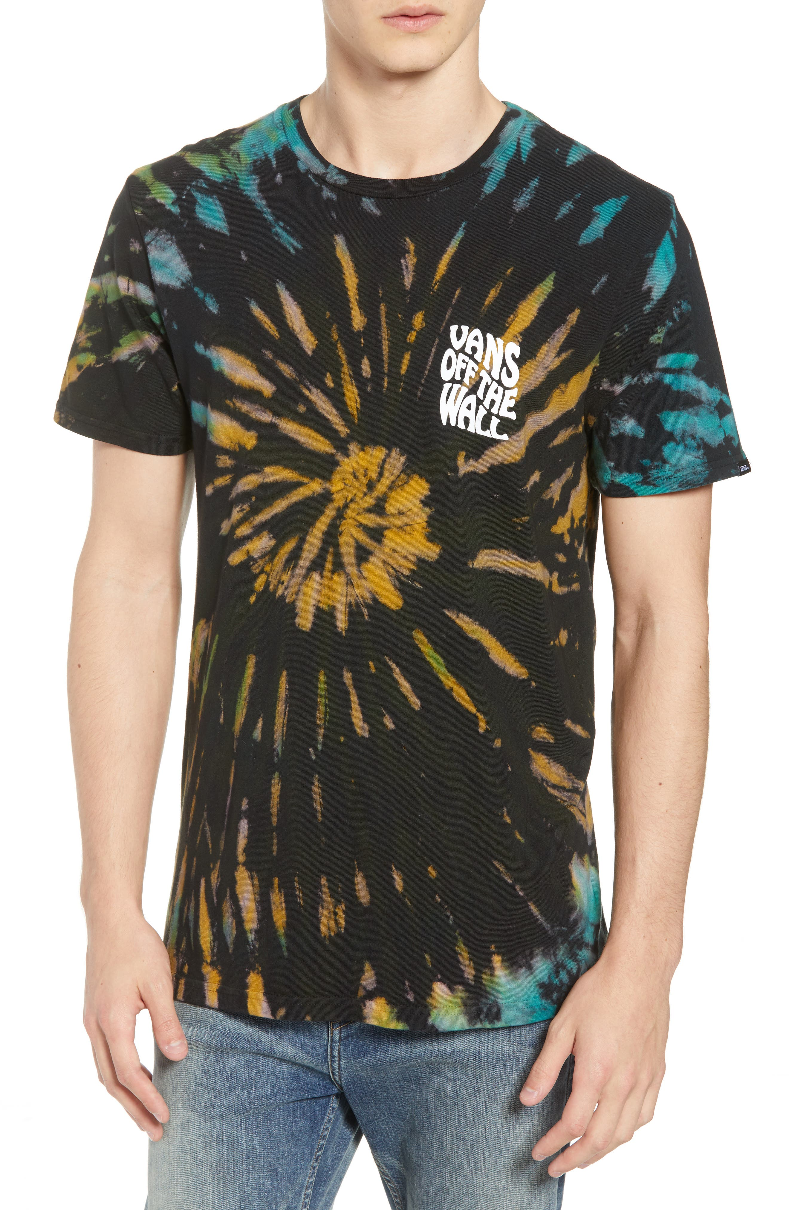 Tie Dye Reaper T-Shirt,                         Main,                         color, BLACK