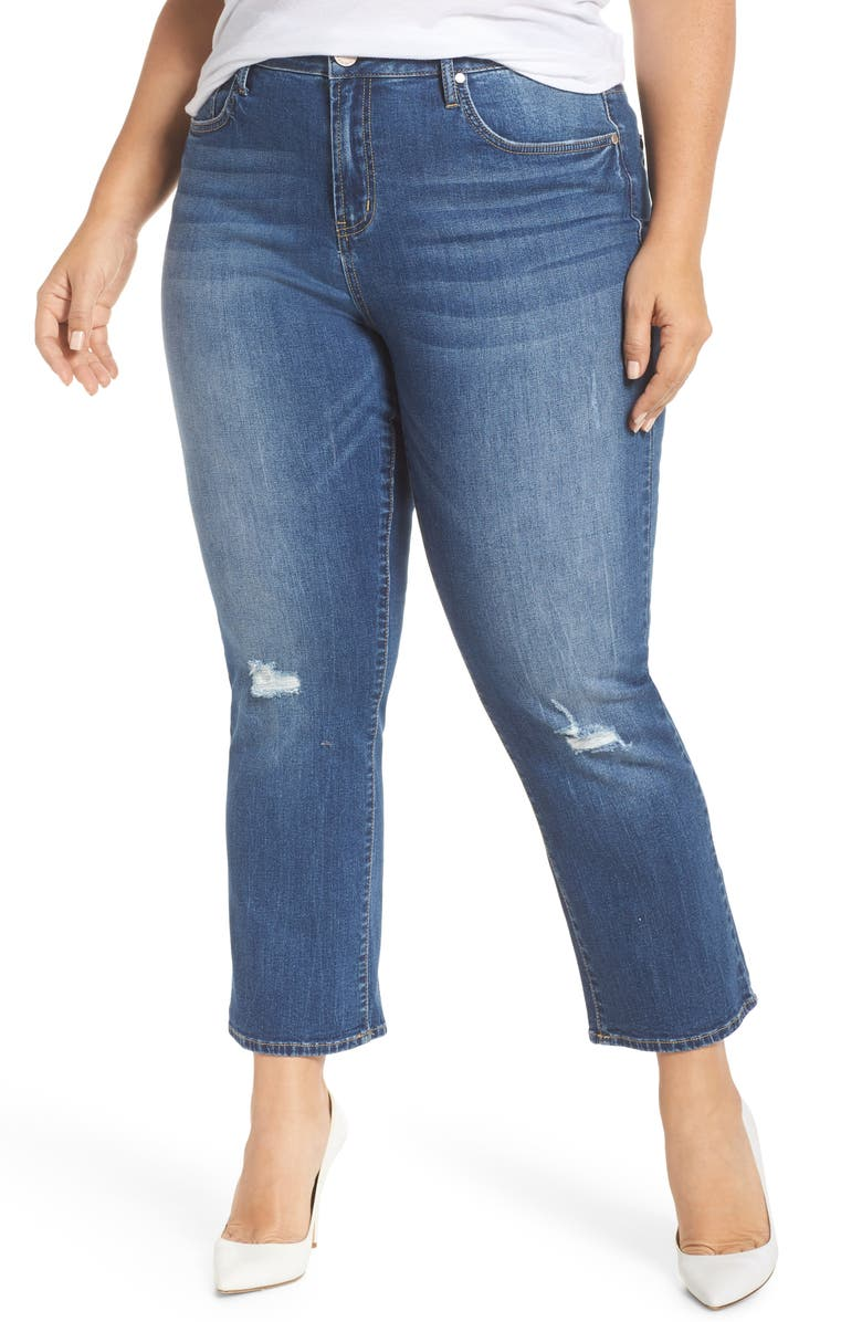 5edfb803af5 Seven7 High Rise Crop Flare Jeans (Reeves) (Plus Size)