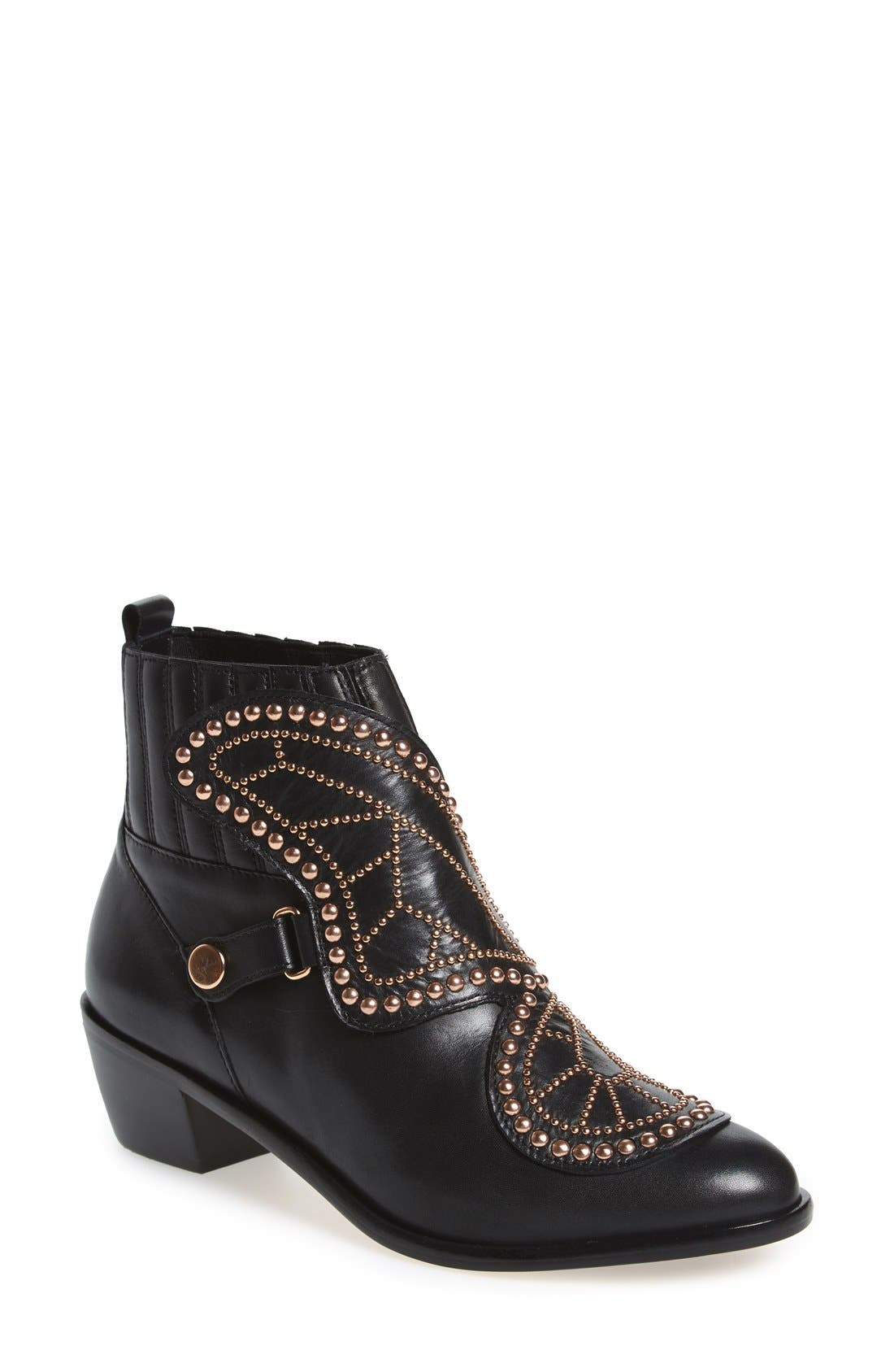 'Karina - Butterfly' Bootie,                             Main thumbnail 1, color,                             001
