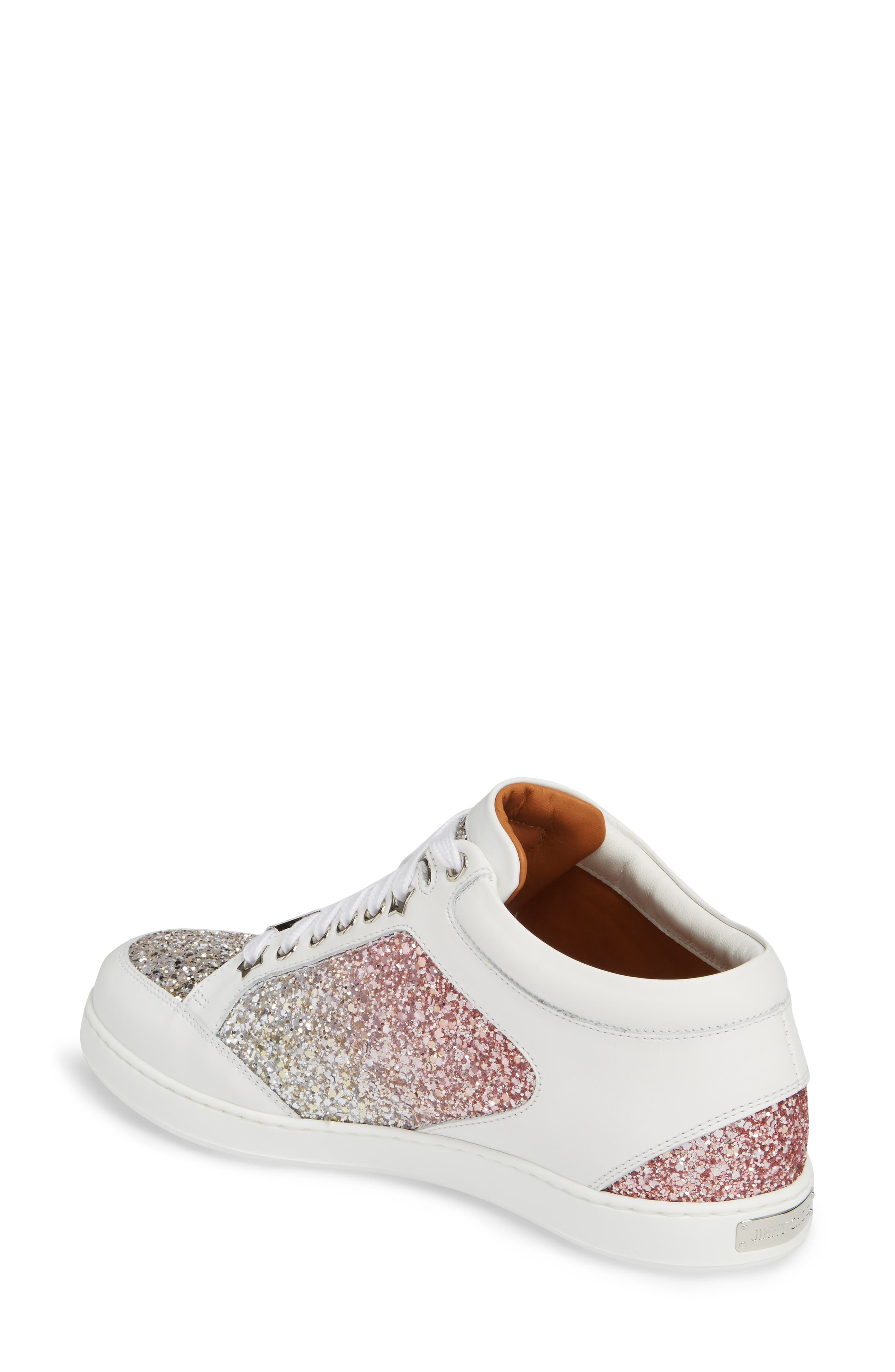 JIMMY CHOO,                             Miami Low Top Sneaker,                             Alternate thumbnail 2, color,                             650