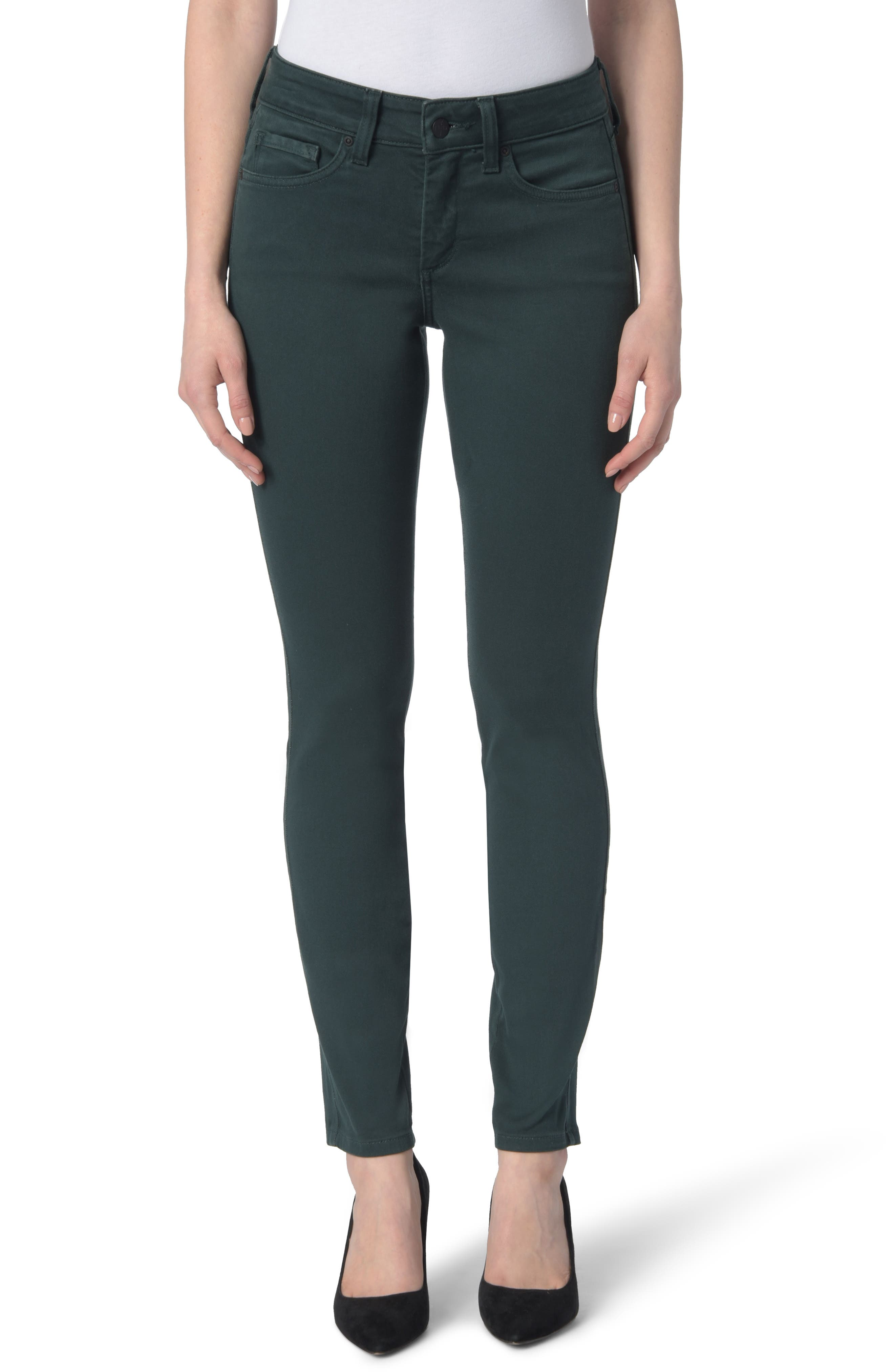 Ami High Waist Colored Stretch Skinny Jeans,                         Main,                         color, VERIDIAN
