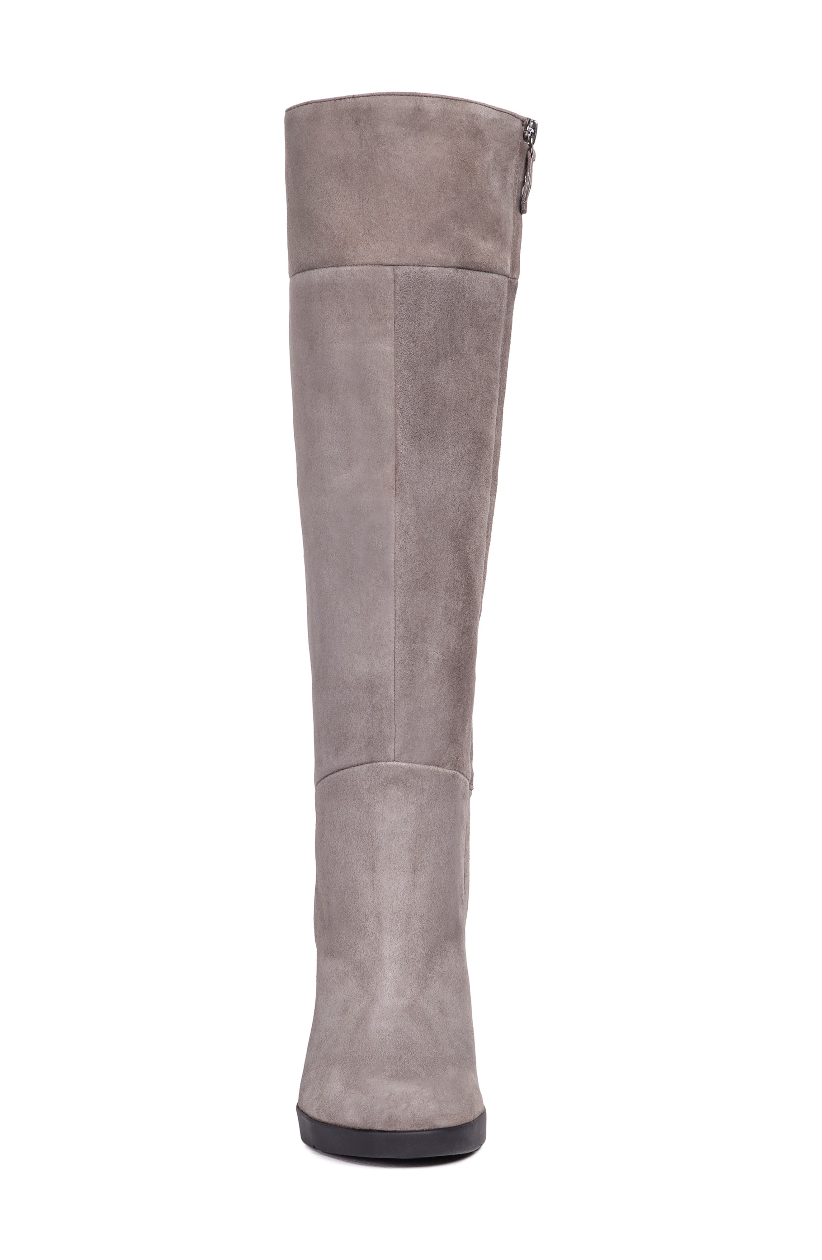 GEOX,                             Annya Knee High Boot,                             Alternate thumbnail 4, color,                             CHESTNUT SUEDE