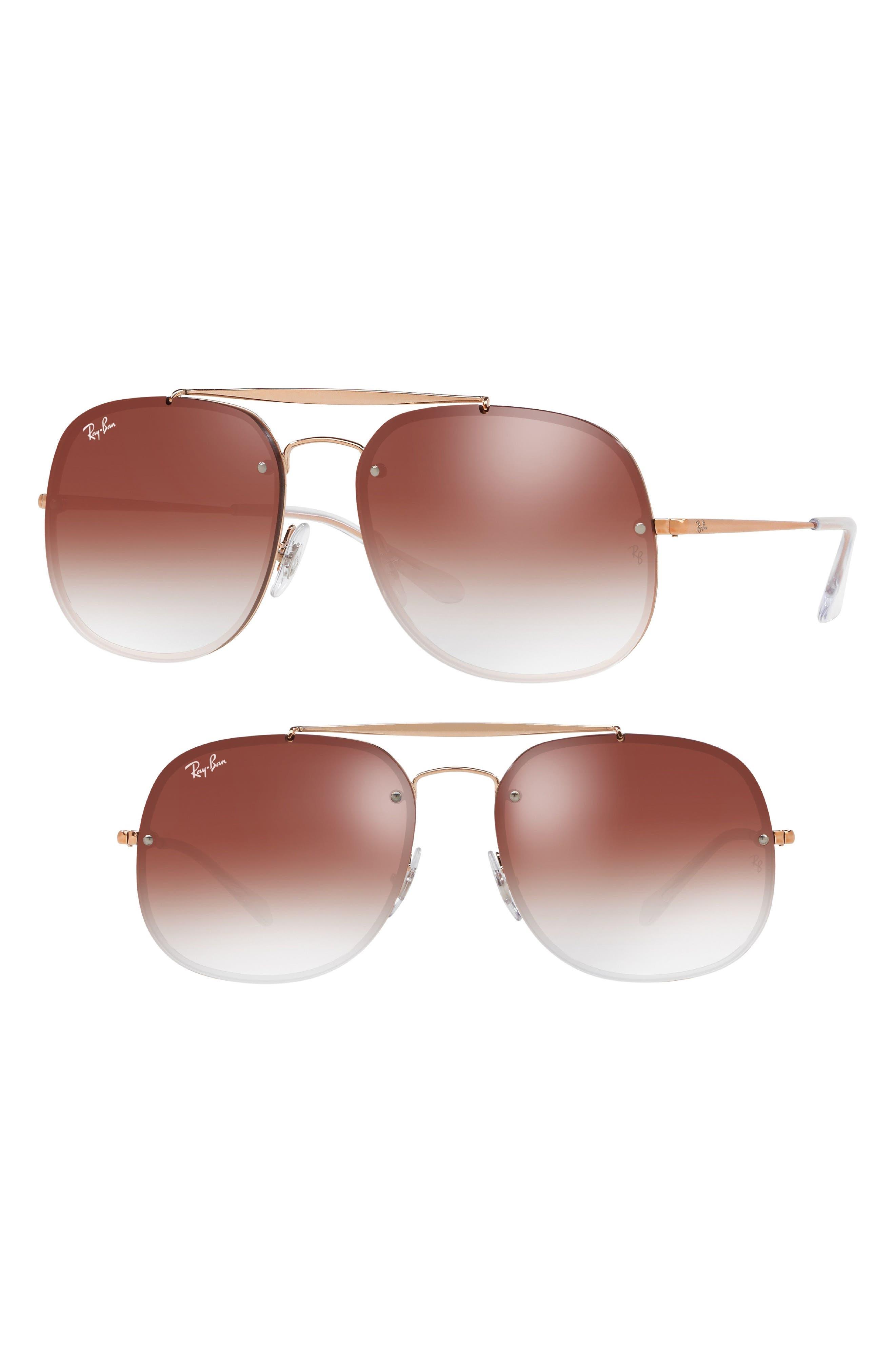 Blaze 58mm Gradient Lens Aviator Sunglasses,                         Main,                         color, COPPER