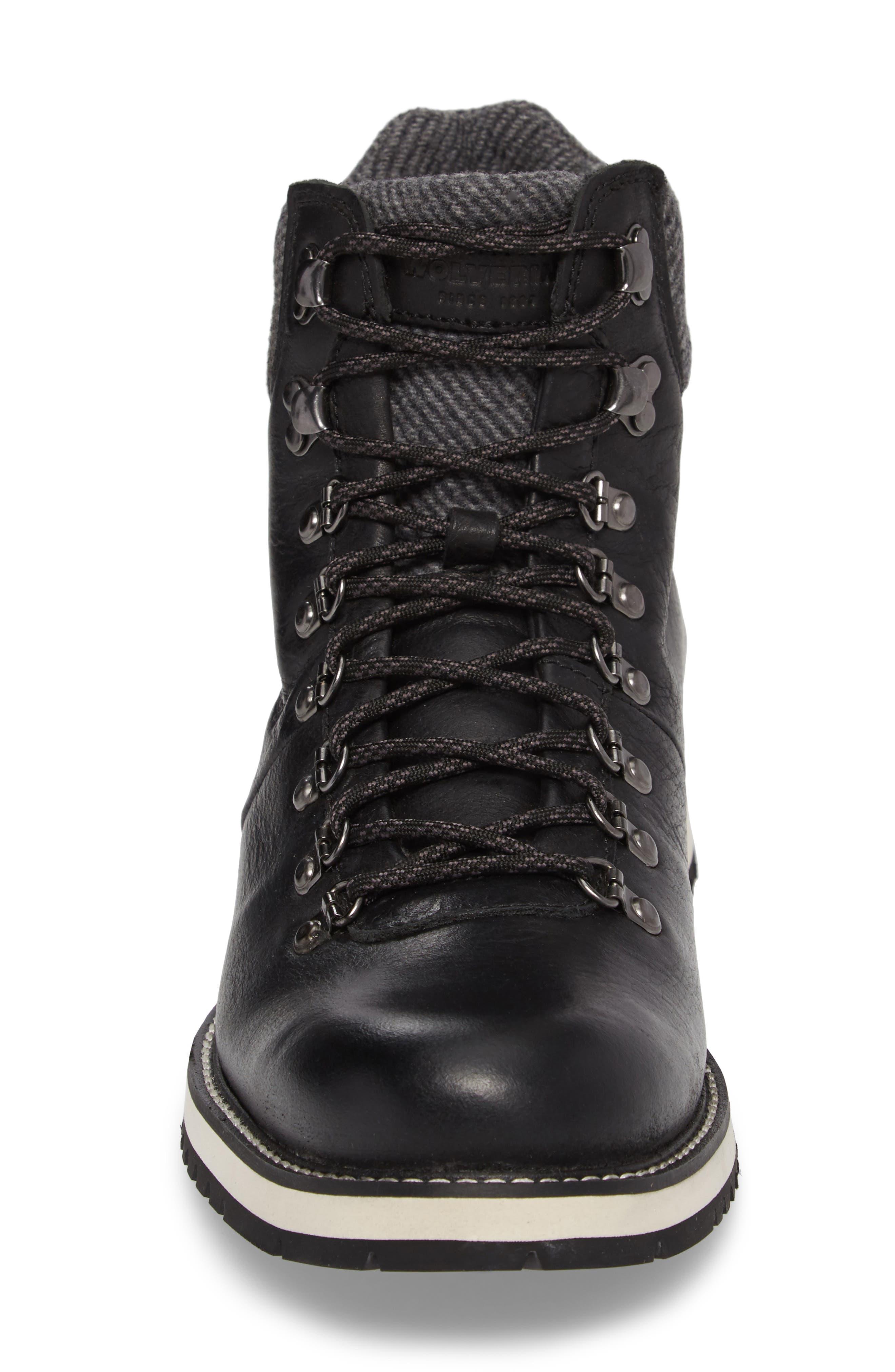 Sidney Waterproof Plain Toe Boot,                             Alternate thumbnail 4, color,                             001