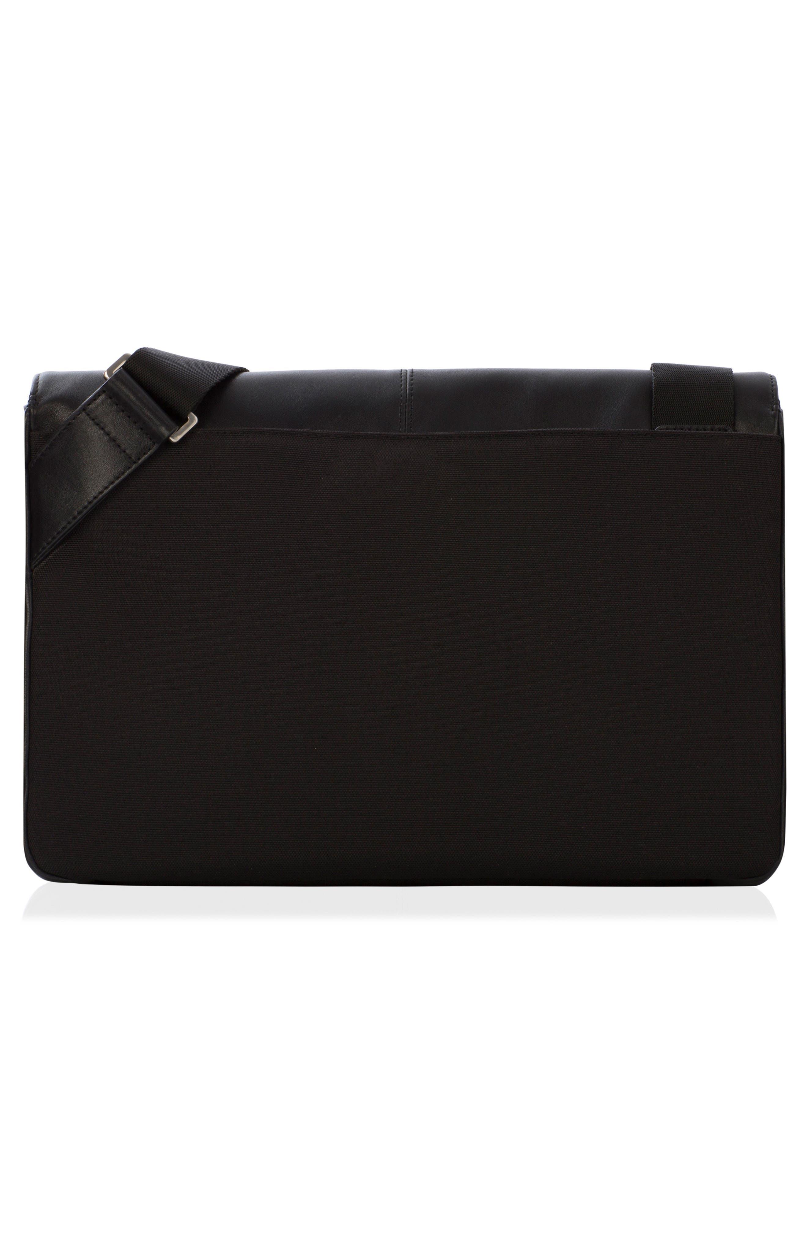 Brompton Kinsale RFID Leather Messenger Bag,                             Alternate thumbnail 2, color,                             001