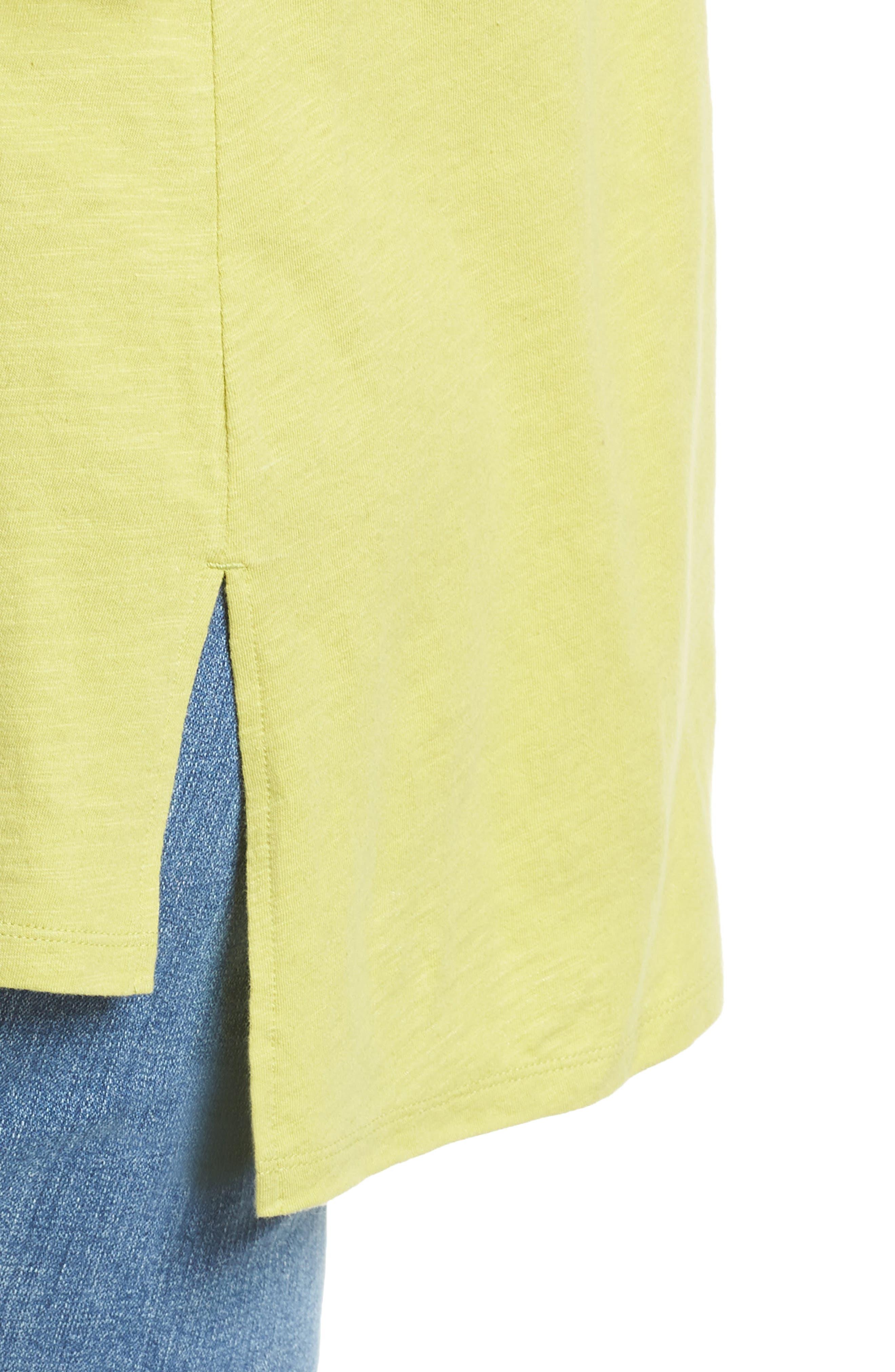 Organic Cotton Jersey Top,                             Alternate thumbnail 4, color,                             VERBENA