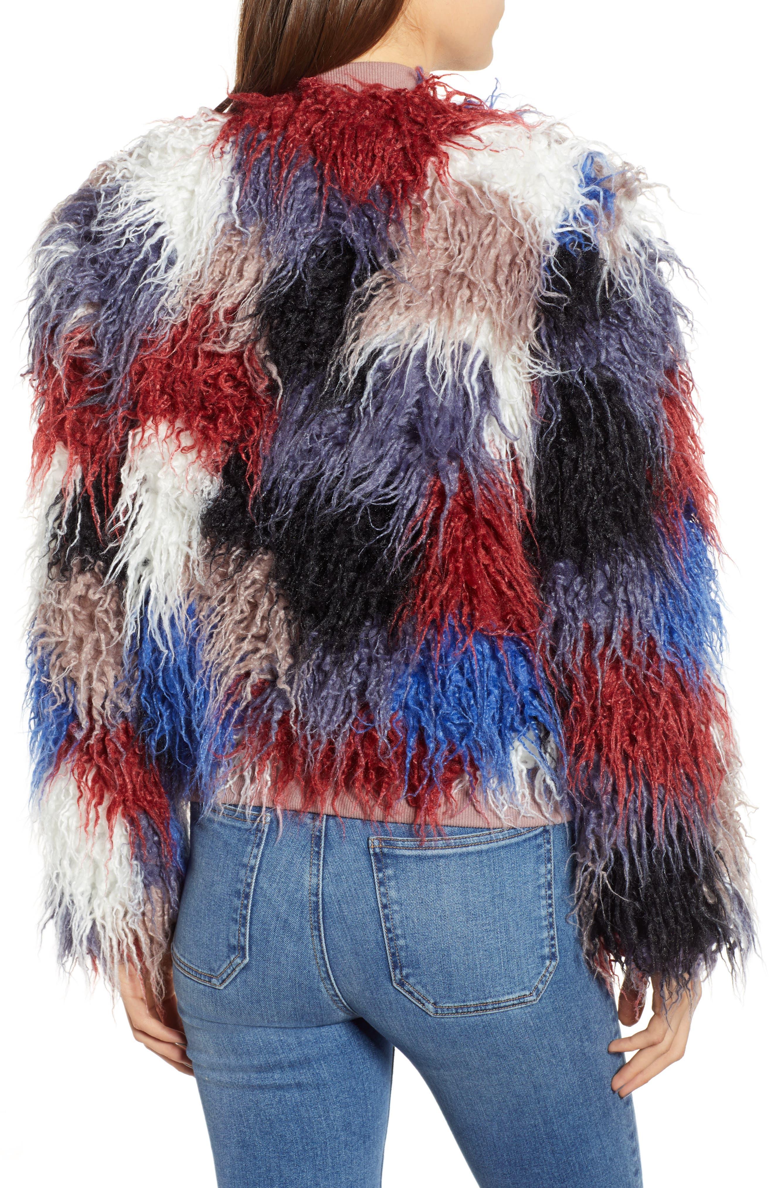 Shaggy Faux Fur Jacket,                             Alternate thumbnail 2, color,                             400