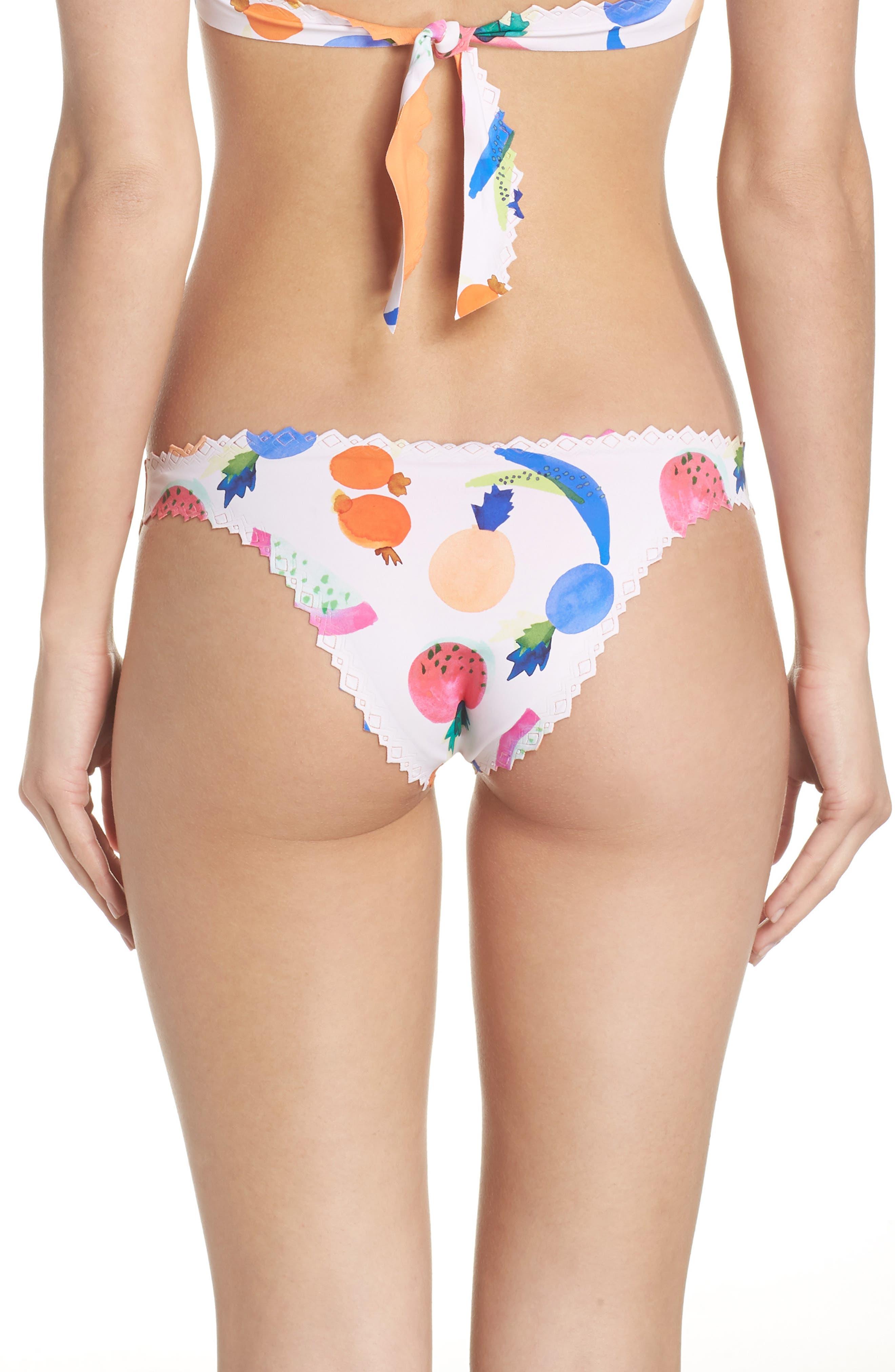 Seamless Scalloped Reversible Bikini Bottoms,                             Alternate thumbnail 2, color,                             COPACABANA