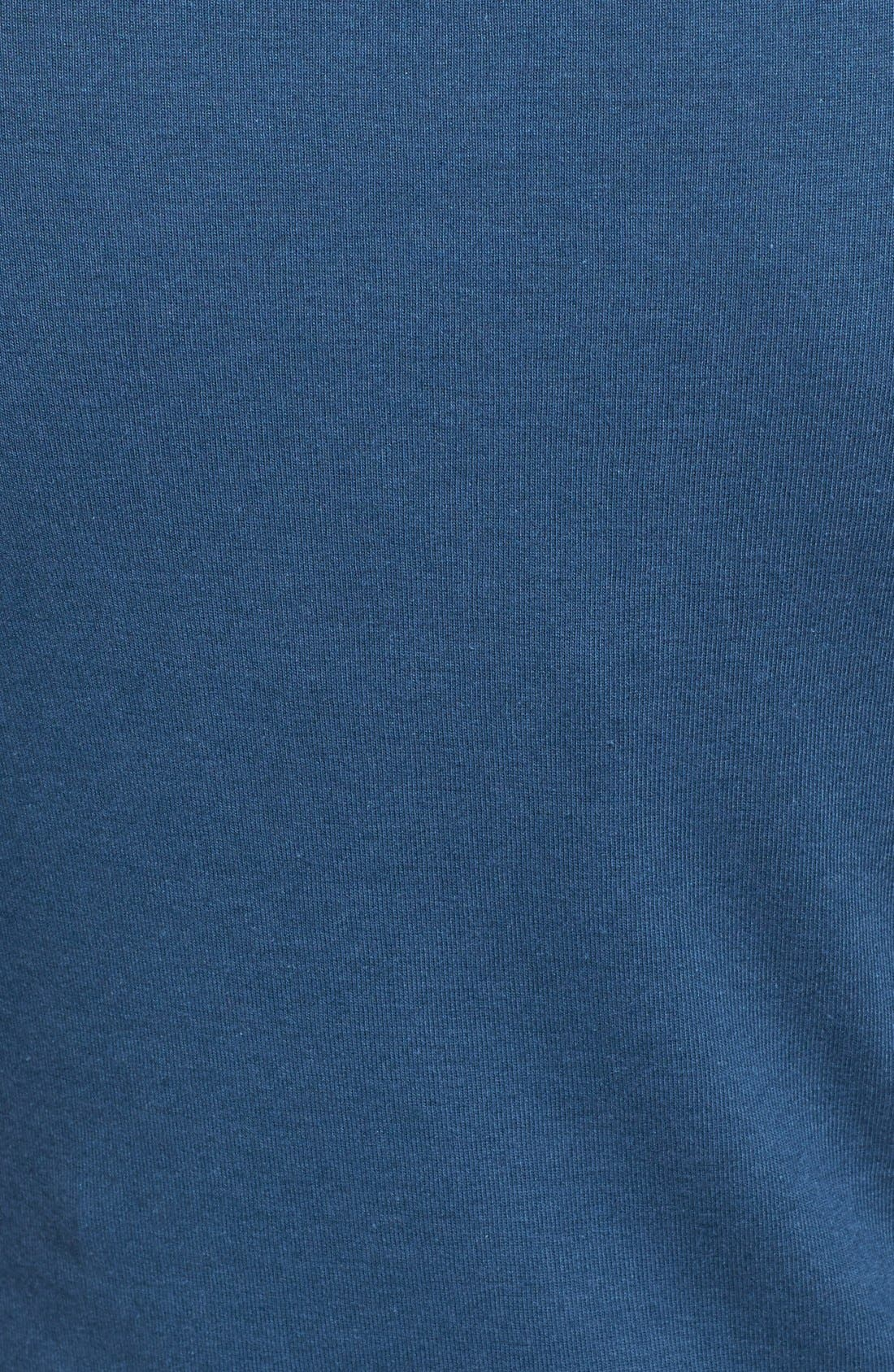 Ballet Neck Cotton & Modal Knit Elbow Sleeve Tee,                             Alternate thumbnail 80, color,