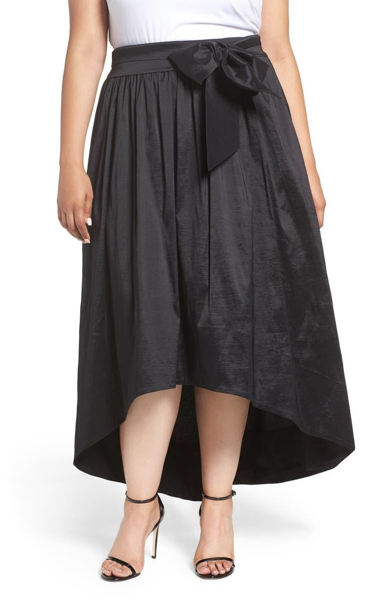 63e691a2921 Eliza J High Low Taffeta Ball Skirt (Plus Size)