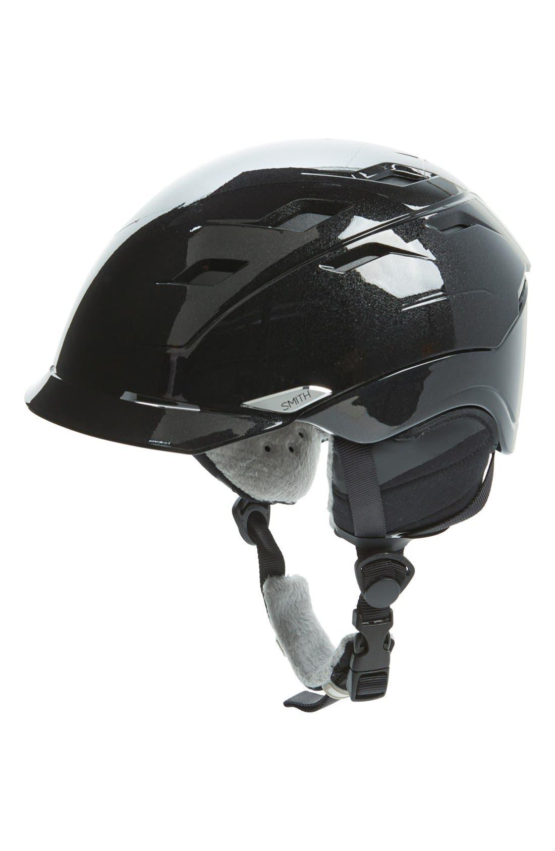 'Valence' Snow Helmet,                         Main,                         color, BLACK PEARL