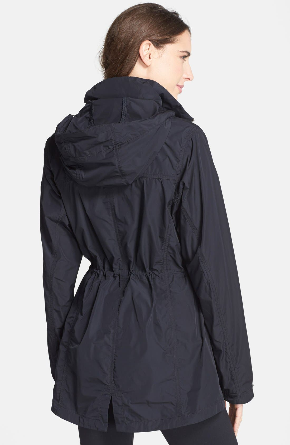 'Suburbanizer' Water Resistant Front Zip Hooded Jacket,                             Alternate thumbnail 3, color,                             001