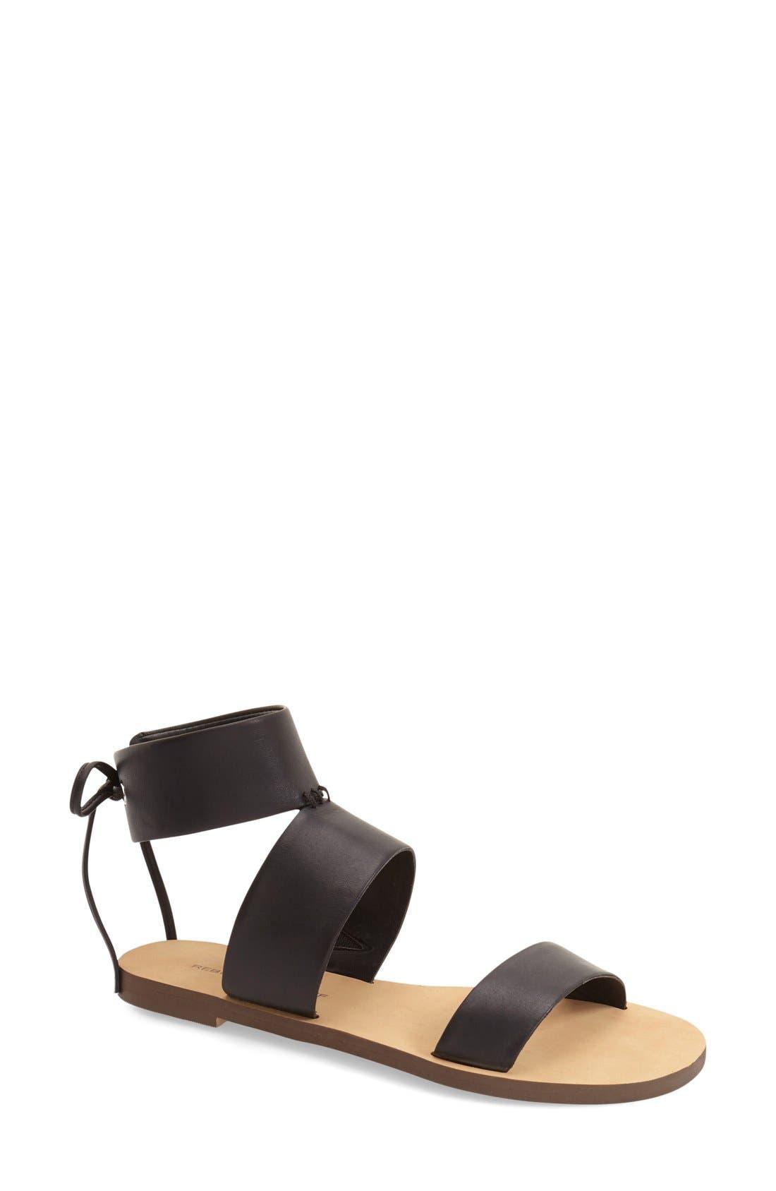 'Emma' Ankle Cuff Sandal,                             Main thumbnail 1, color,                             001