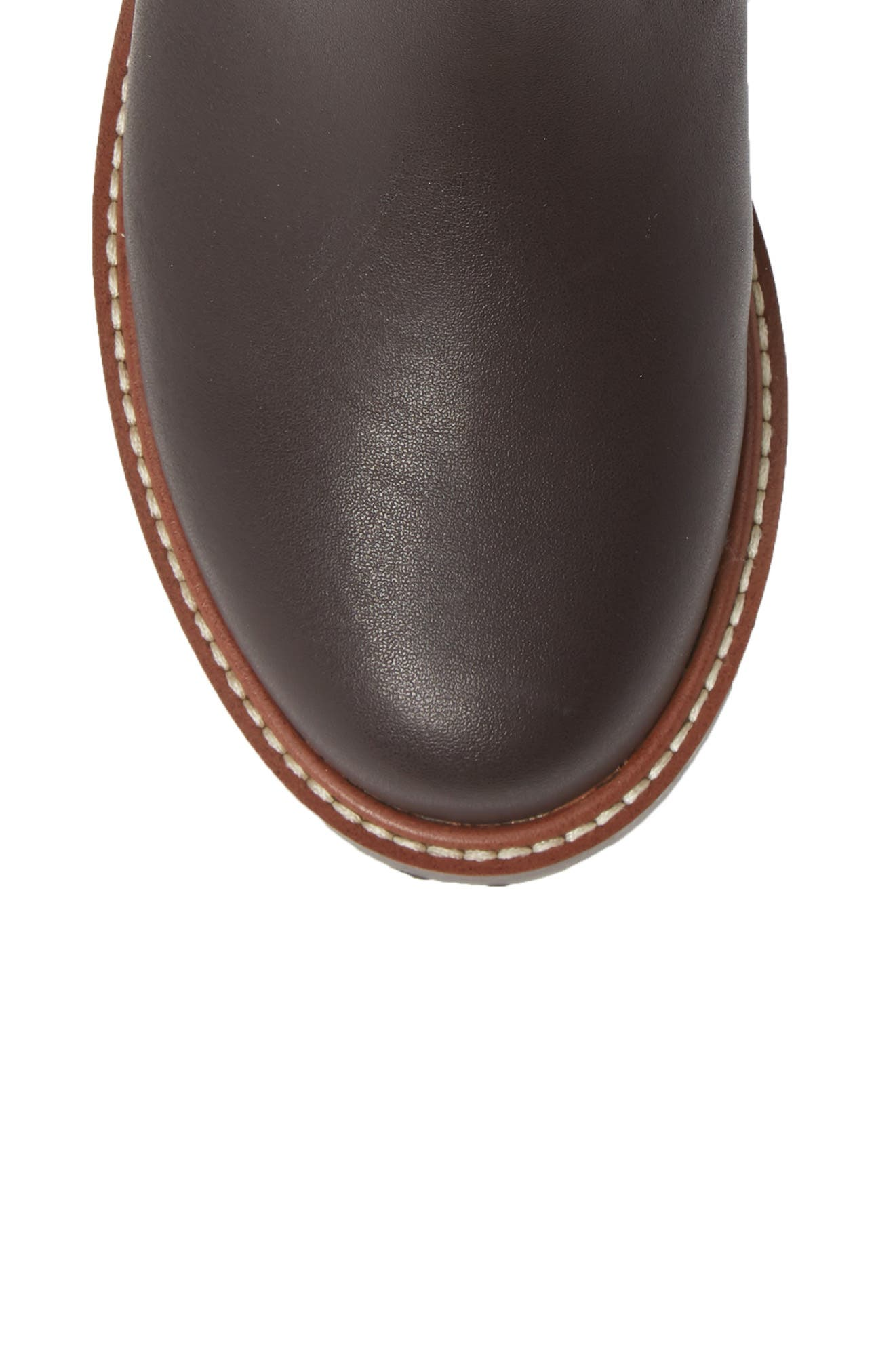 Chelsea Boot,                             Alternate thumbnail 5, color,                             CHOCOLATE OILED LEATHER