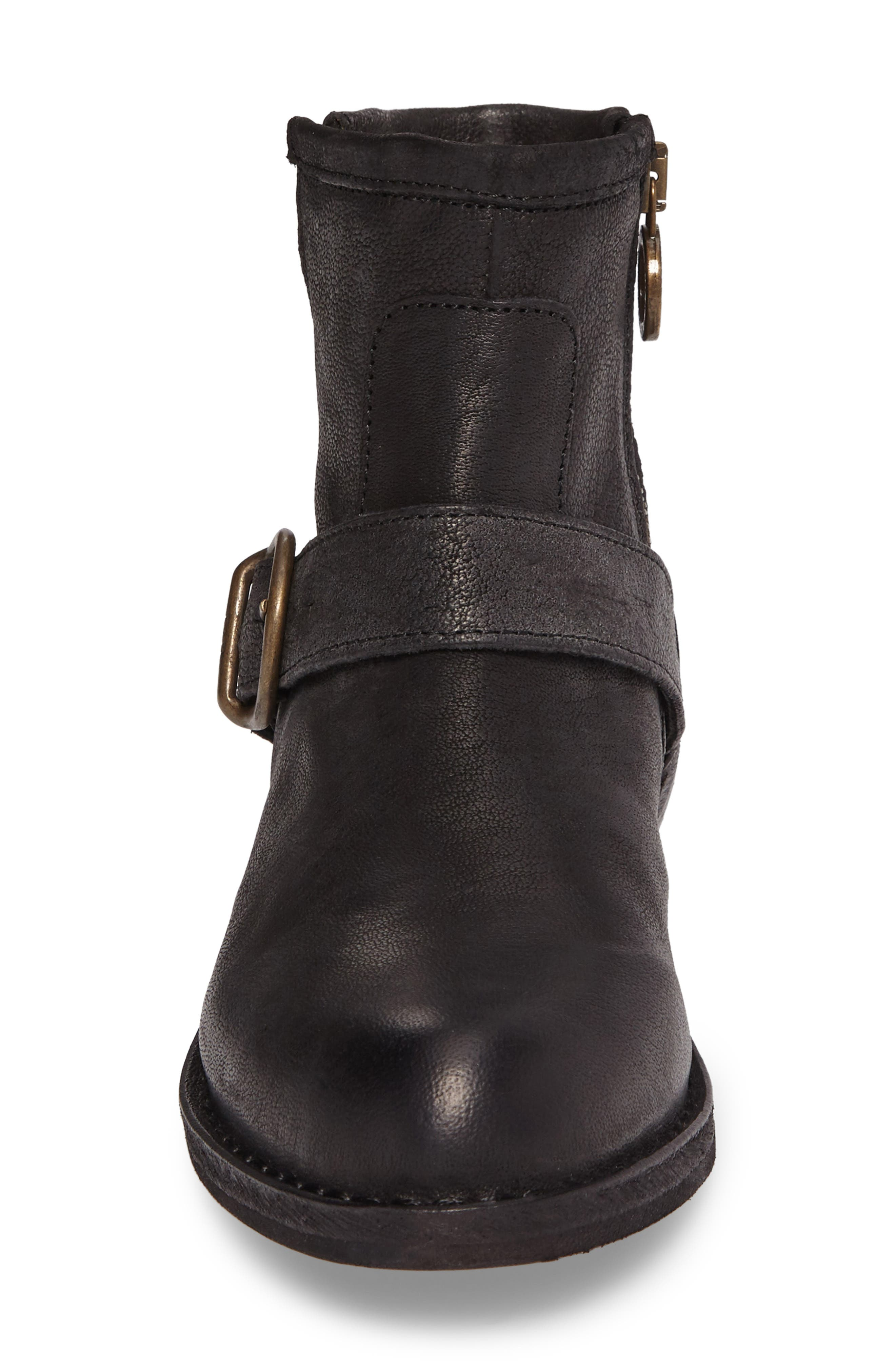 FIORENTINI + BAKER,                             'Chad' Textured Leather Bootie,                             Alternate thumbnail 4, color,                             002