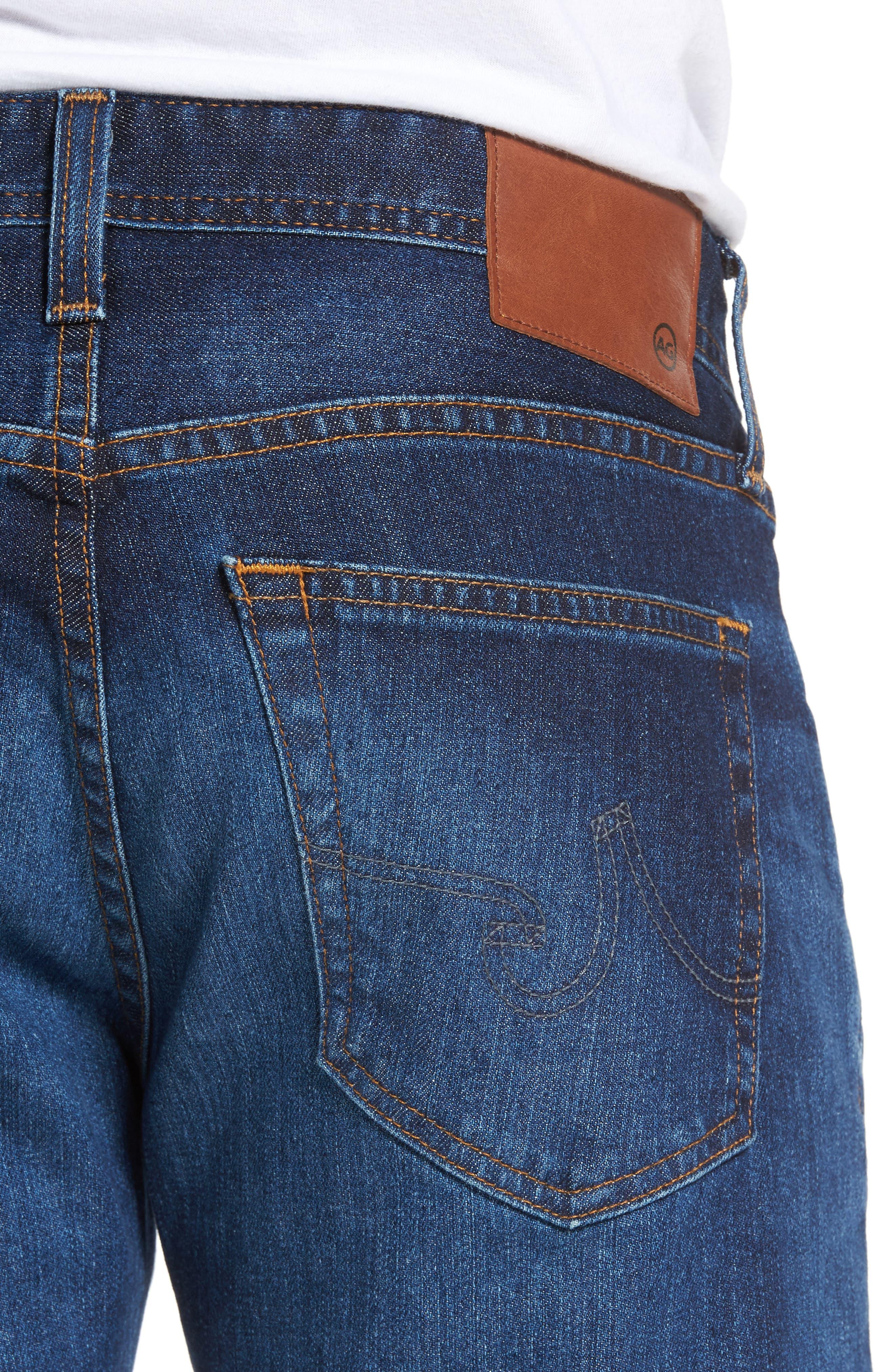 Tellis Slim Fit Jeans,                             Alternate thumbnail 4, color,                             451