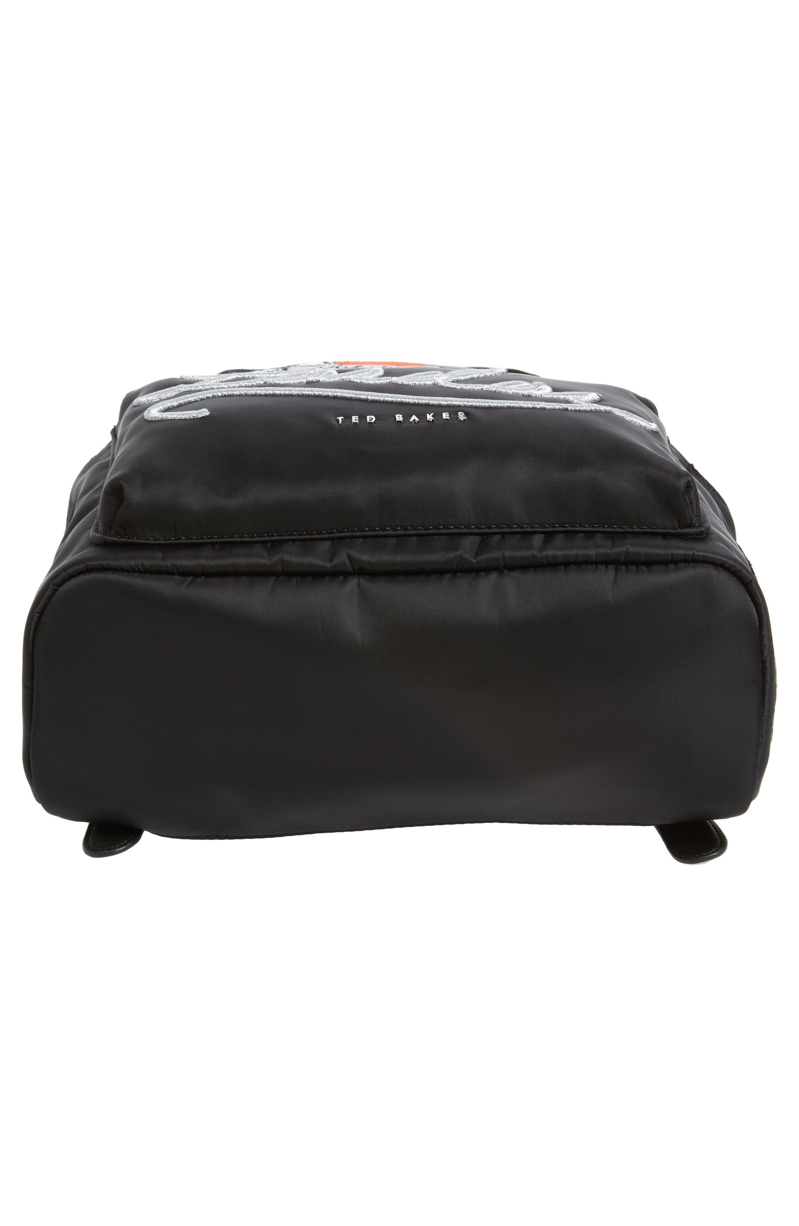 Sofiahh Nylon Backpack,                             Alternate thumbnail 6, color,                             BLACK