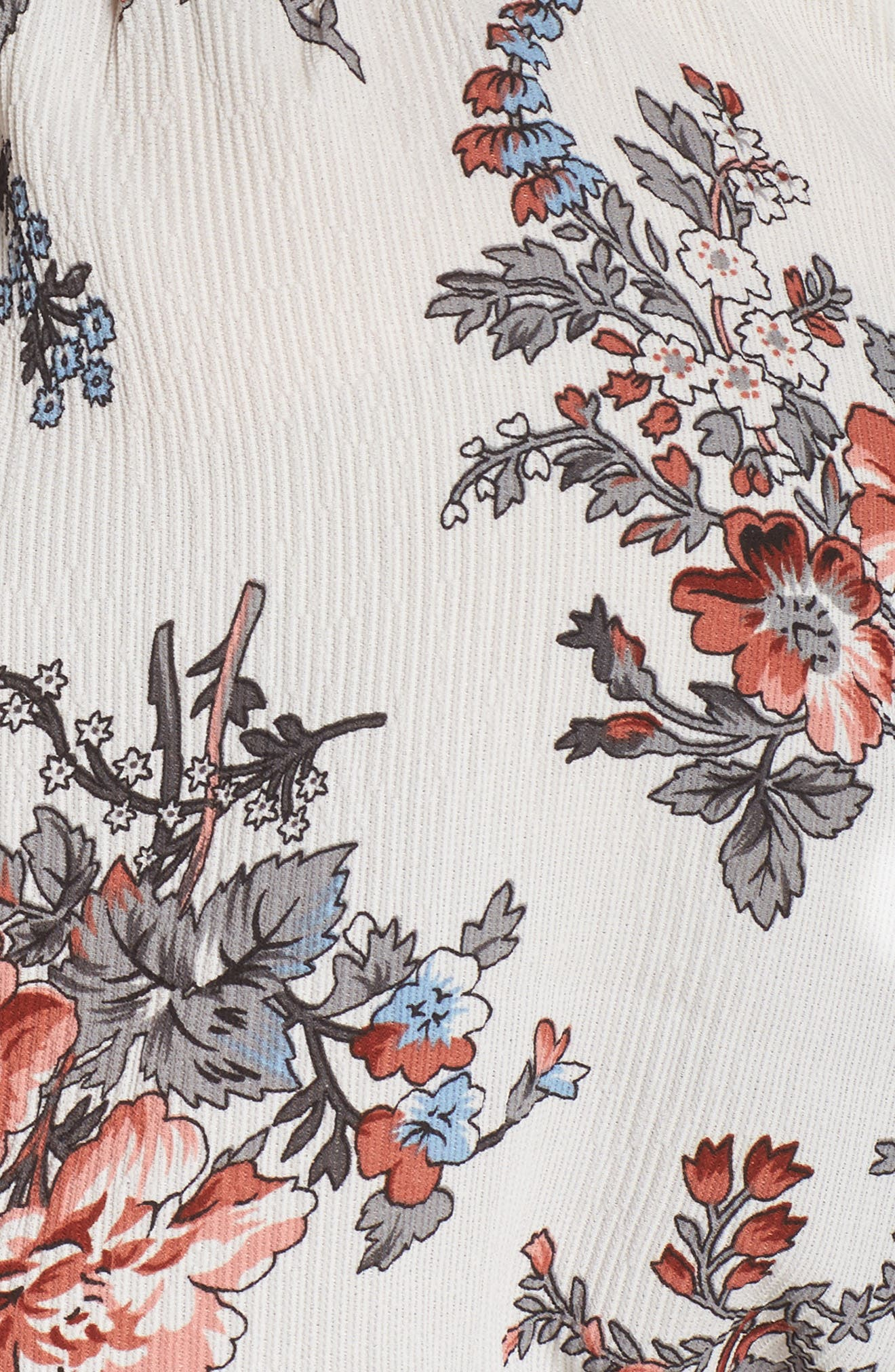 Print Off-the-Shoulder Maxi Dress,                             Alternate thumbnail 5, color,                             100