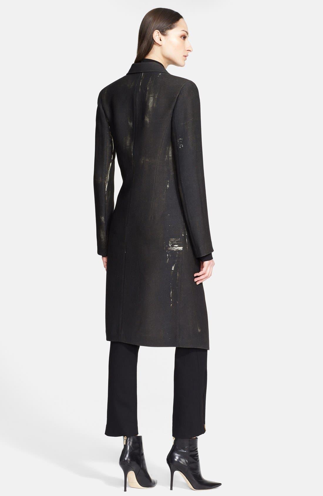 Donna Karan Collection 'Raku Brushstroke' Wool & Silk Jacket,                             Alternate thumbnail 2, color,                             001