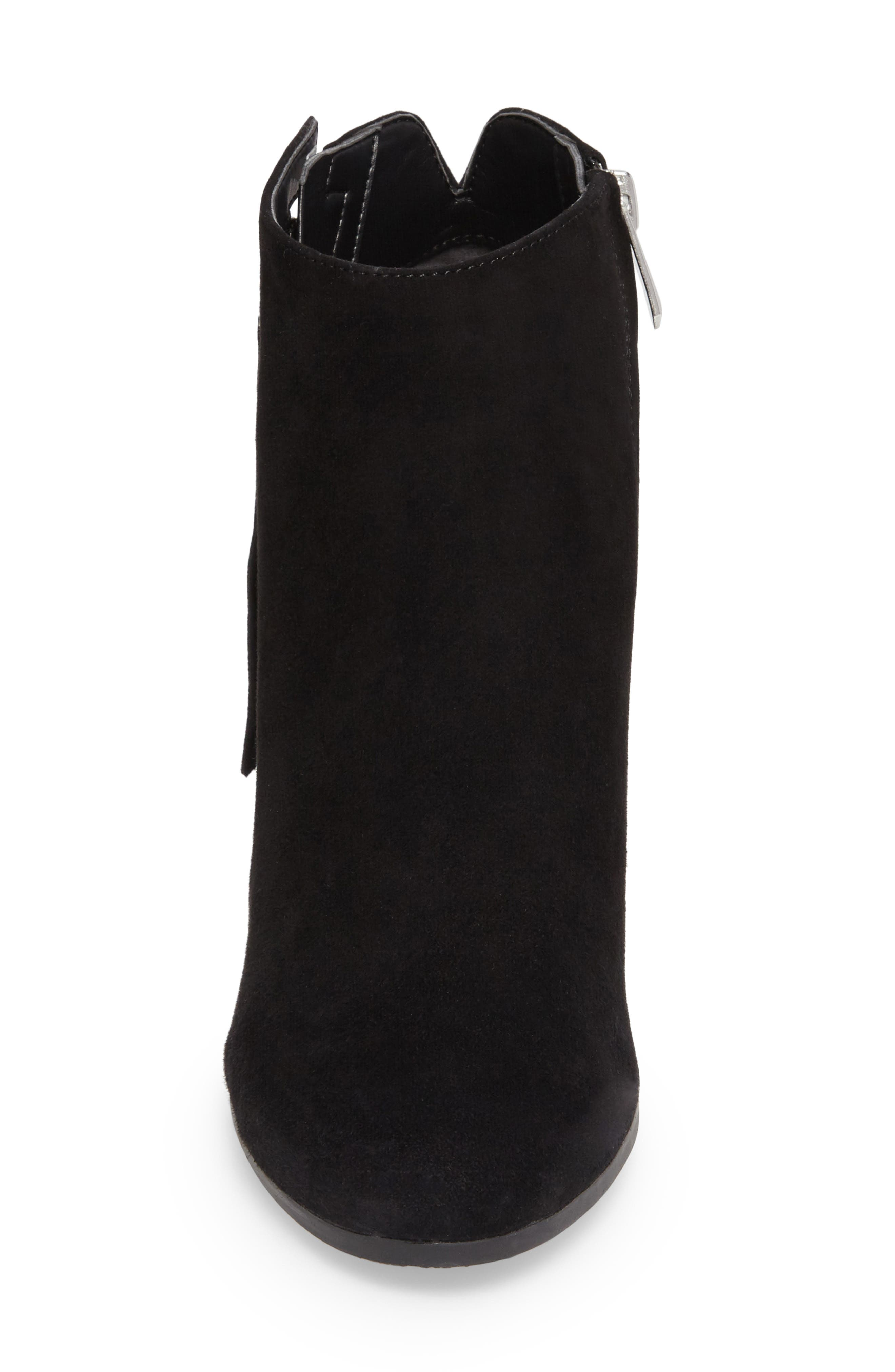 Sadee Angle Zip Bootie,                             Alternate thumbnail 4, color,                             BLACK SUEDE