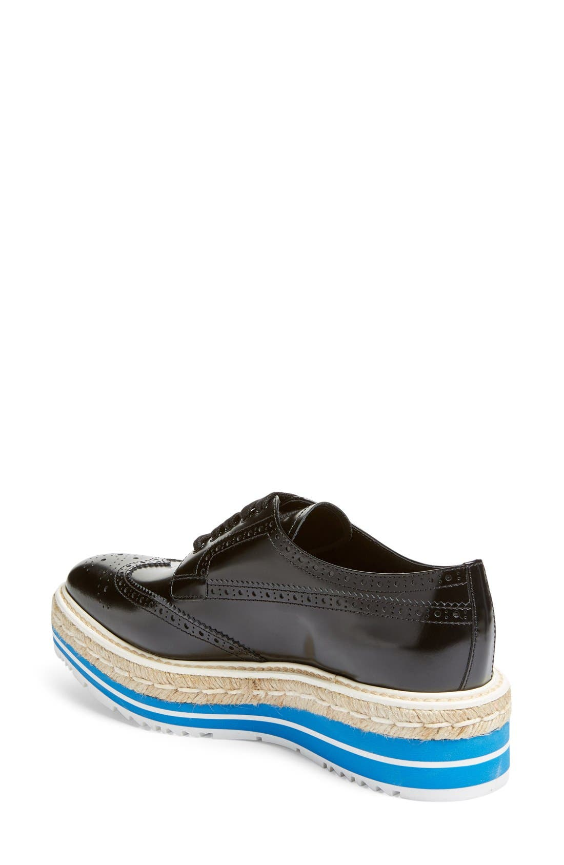 Microsole Espadrille Oxford,                             Alternate thumbnail 5, color,                             001